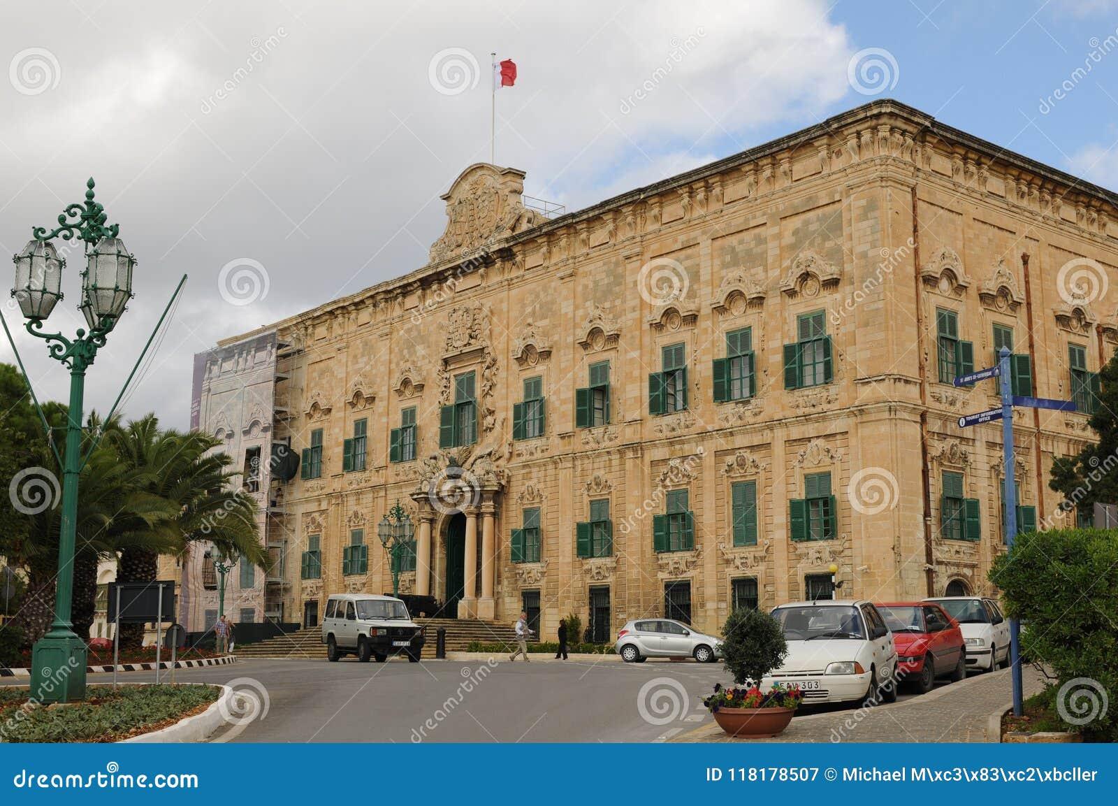 Les premier-ministres palais à La Valette la capitale de Malte à