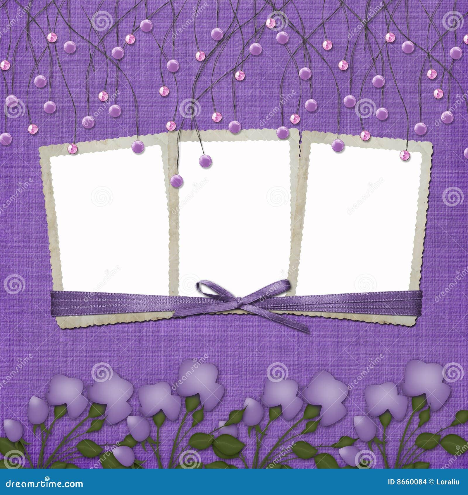 Les programmes abstraits de fond ont suspendu la violette