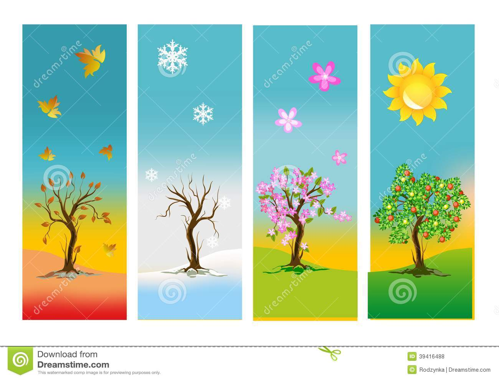 les quatre saisons illustration stock illustration du nature 39416488. Black Bedroom Furniture Sets. Home Design Ideas
