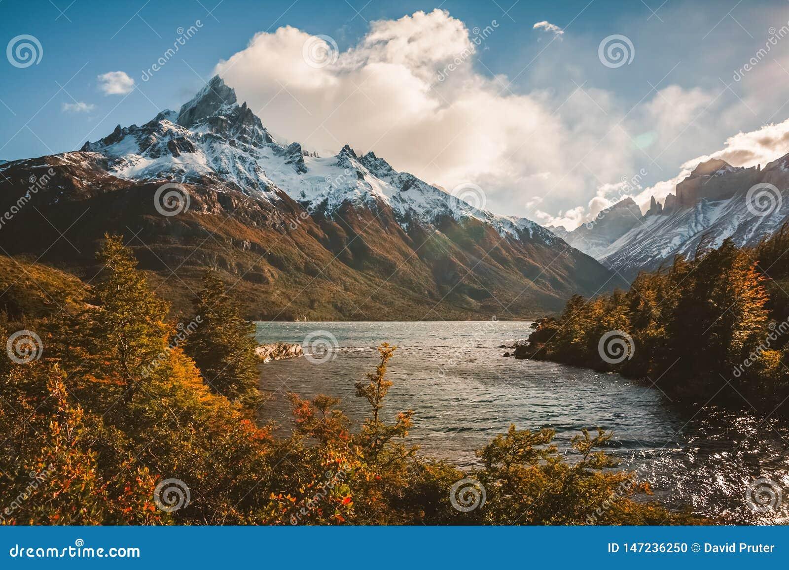 Les randonneurs rêvent dans le Patagonia, Chili