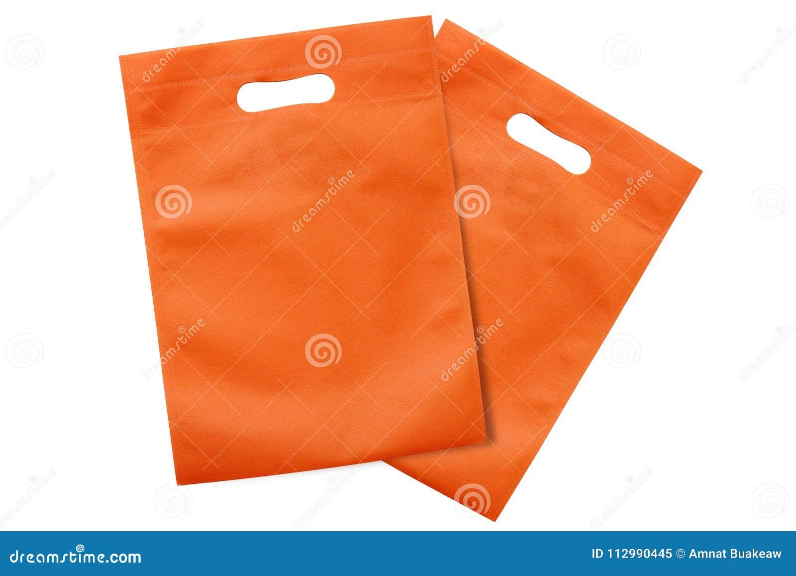 marques reconnues bonne vente de chaussures en présentant Les Sacs Oranges, Tissu D'eco Met En Sac Pour Réduire Le ...