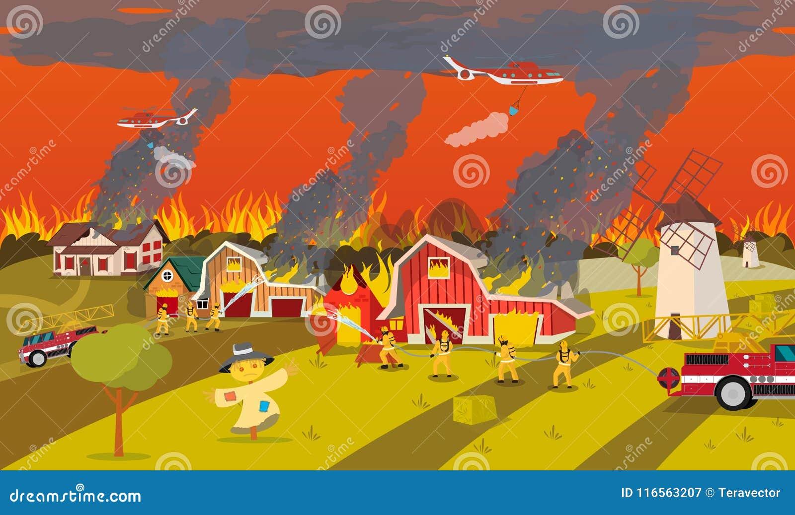 Les sapeurs-pompiers s éteignent la ferme Concept Forest Fire