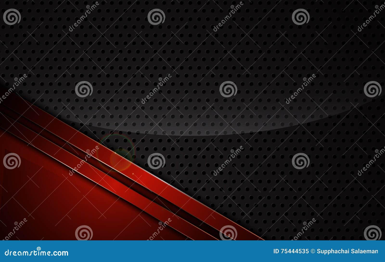 Les sports rouges métalliques abstraits de cadre conçoivent le calibre de fond de concept d innovation de technologie