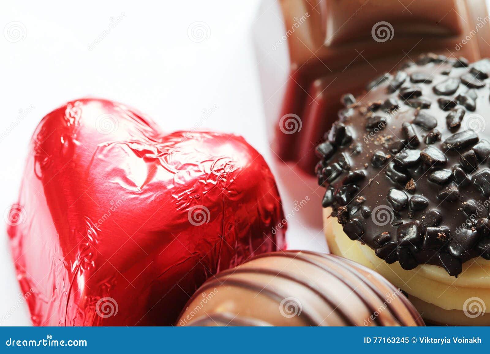 Les sucreries de chocolat se ferment vers le haut