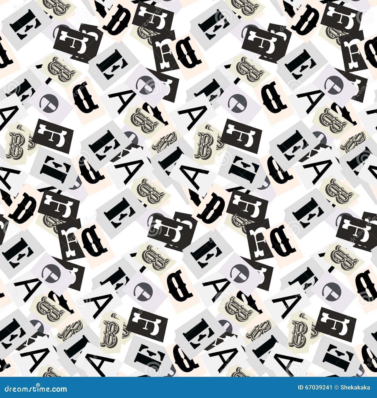 les symboles gris d 39 alphabet marquent avec des lettres le style sans couture de journal de. Black Bedroom Furniture Sets. Home Design Ideas