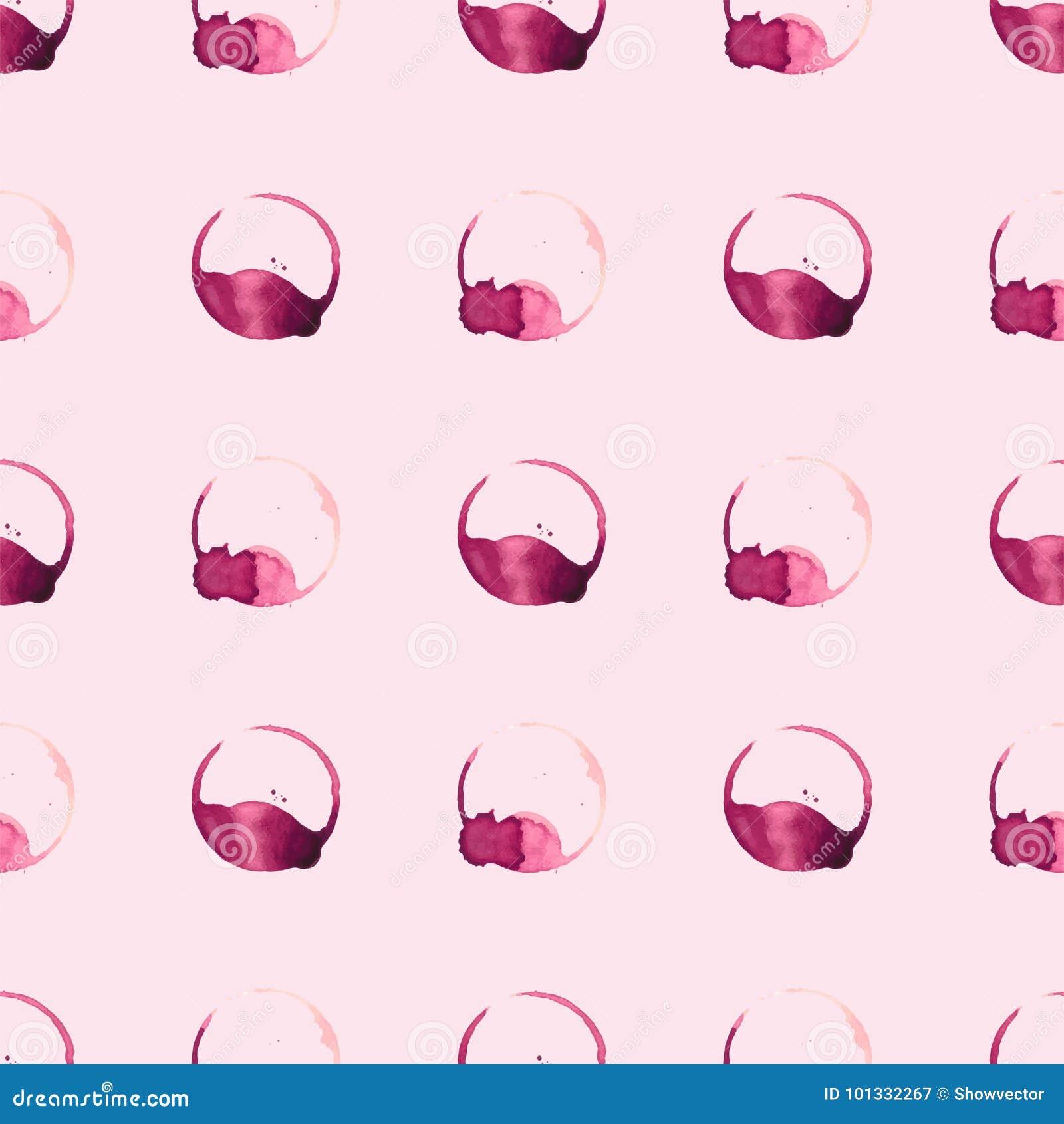 Les taches de staiin de vin et de café éclabousse le modèle sans couture de vecteur de tasse