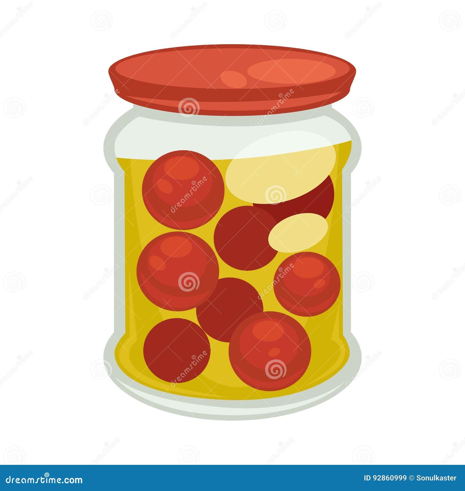 Les tomates cerises en bo te dans le grand pot ont isol l 39 illustration illustration de vecteur - Tomate cerise en pot ...