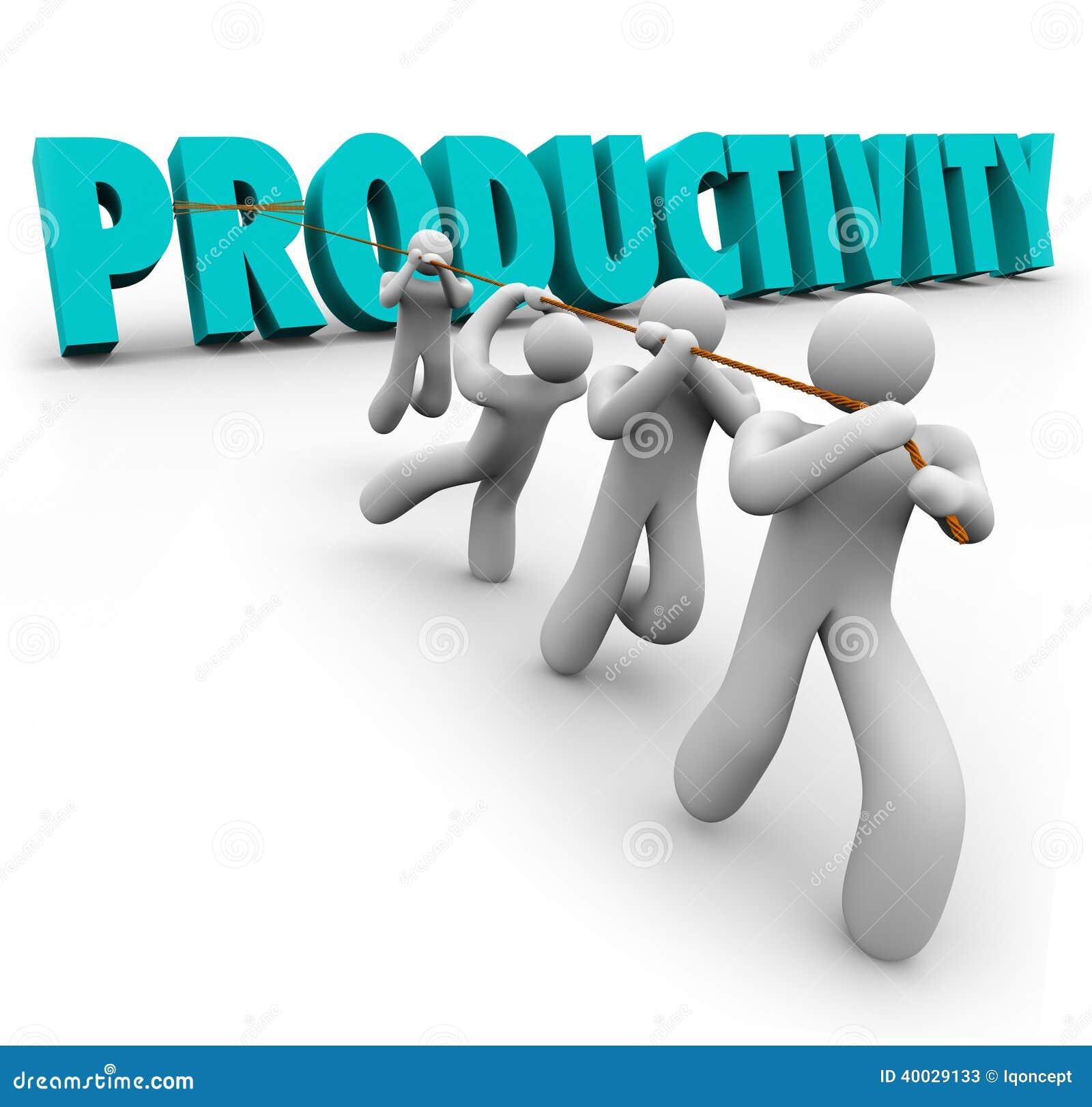Les travailleurs soulevés tirés par Word de productivité améliorent la production d augmentation