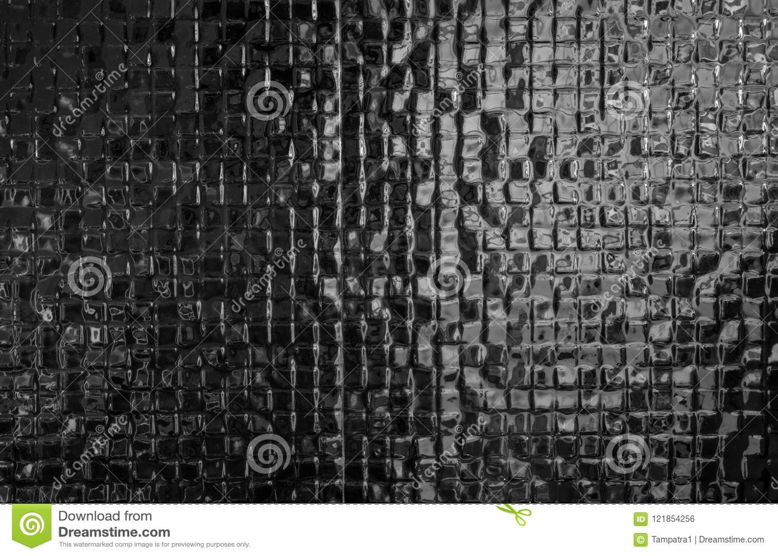 Les tuiles de mosaïque noires modèlent la conception moderne de fond de texture