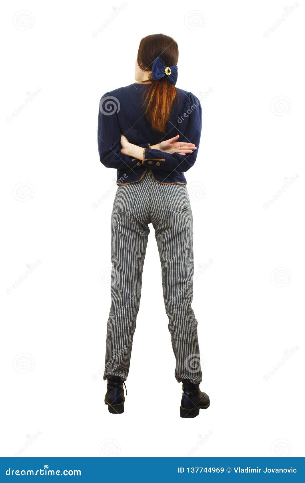 en ligne construction rationnelle sur des coups de pieds de Les Vêtements Et Elle De Sara Regarde Loin Image stock ...