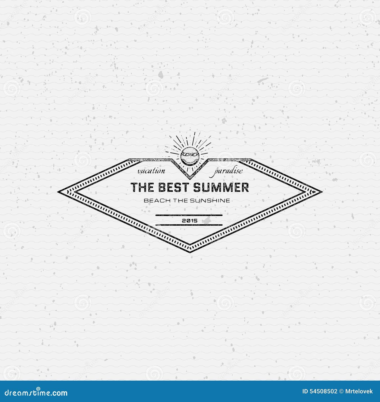 Les vacances d été badges des logos et des labels pour utilisation