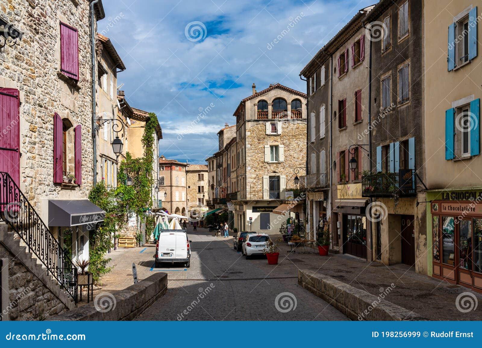 Les Vans, France - Sep 24, 2020: View Of The Village Les Vans In ...