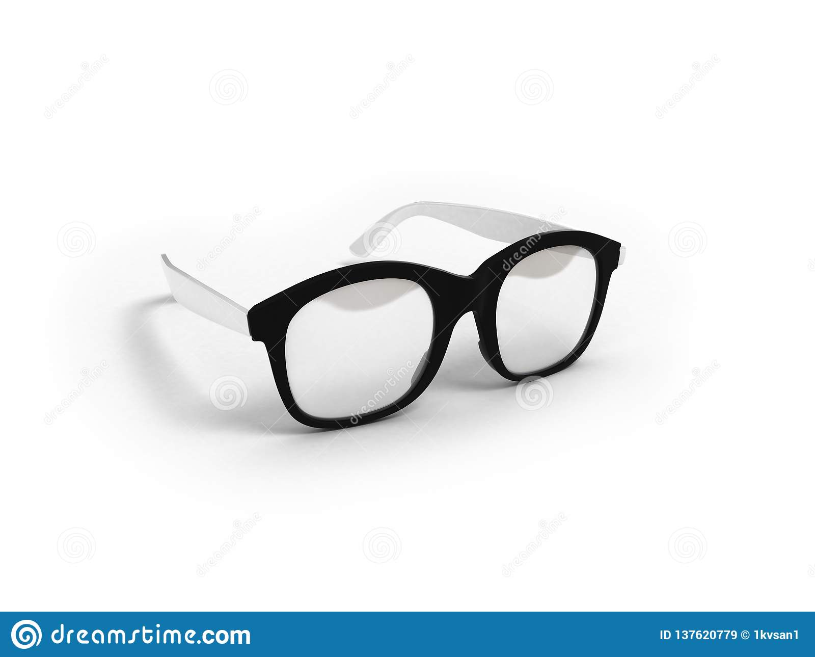 Les verres d oeil d isolement sur 3d blanc rendent