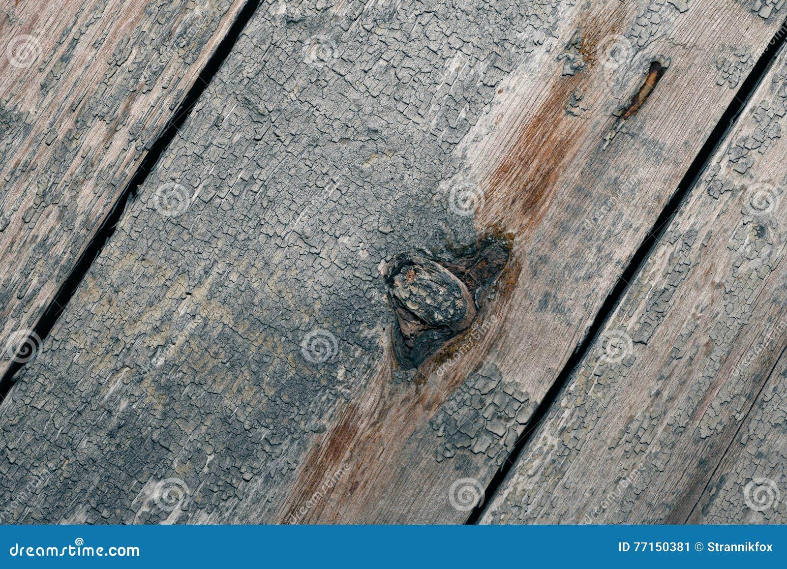 Les vieilles planches en bois avec la peinture d épluchage aiment le fond toned