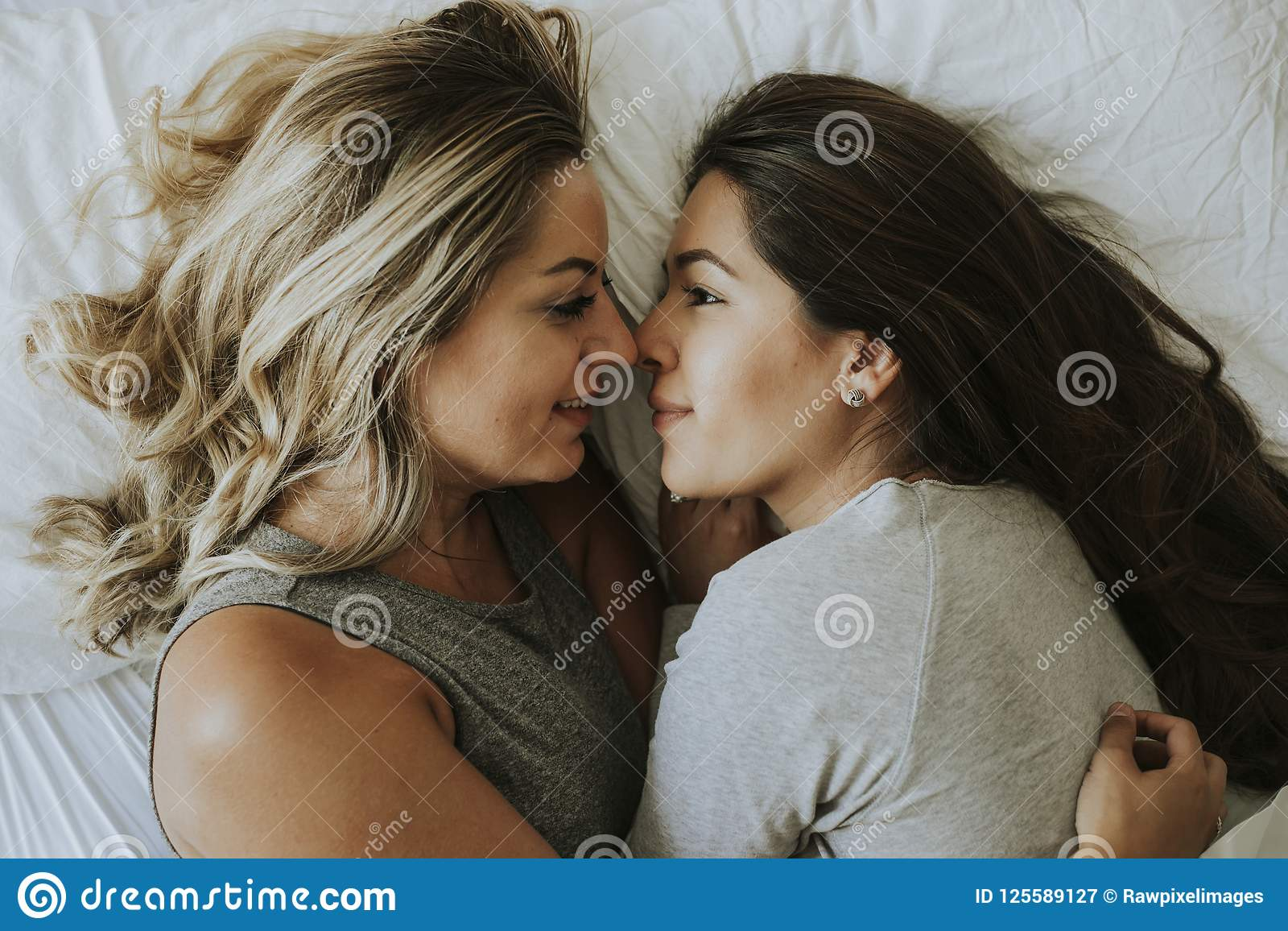 Lesbian in bed together