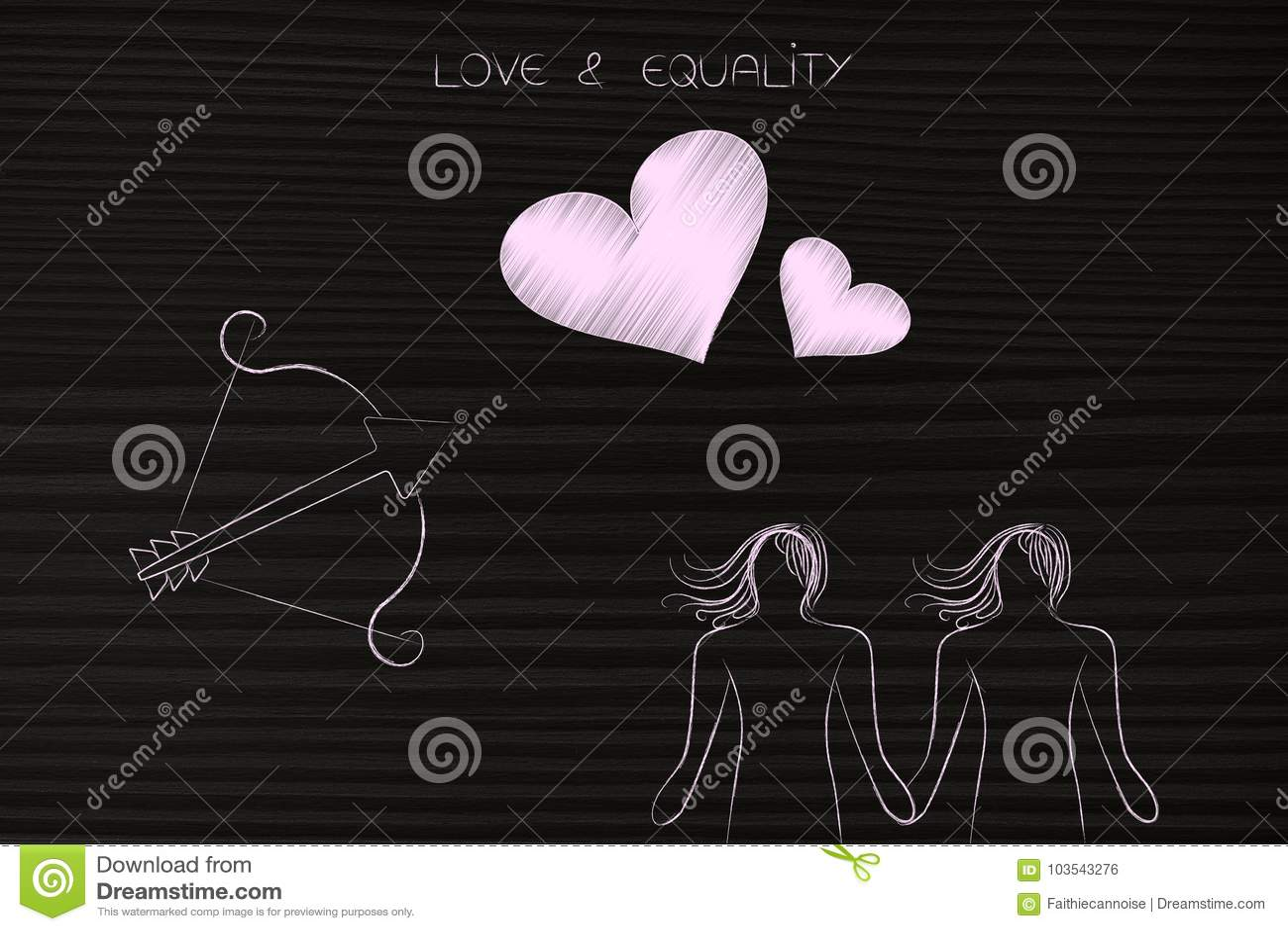 Cupids love lesbian