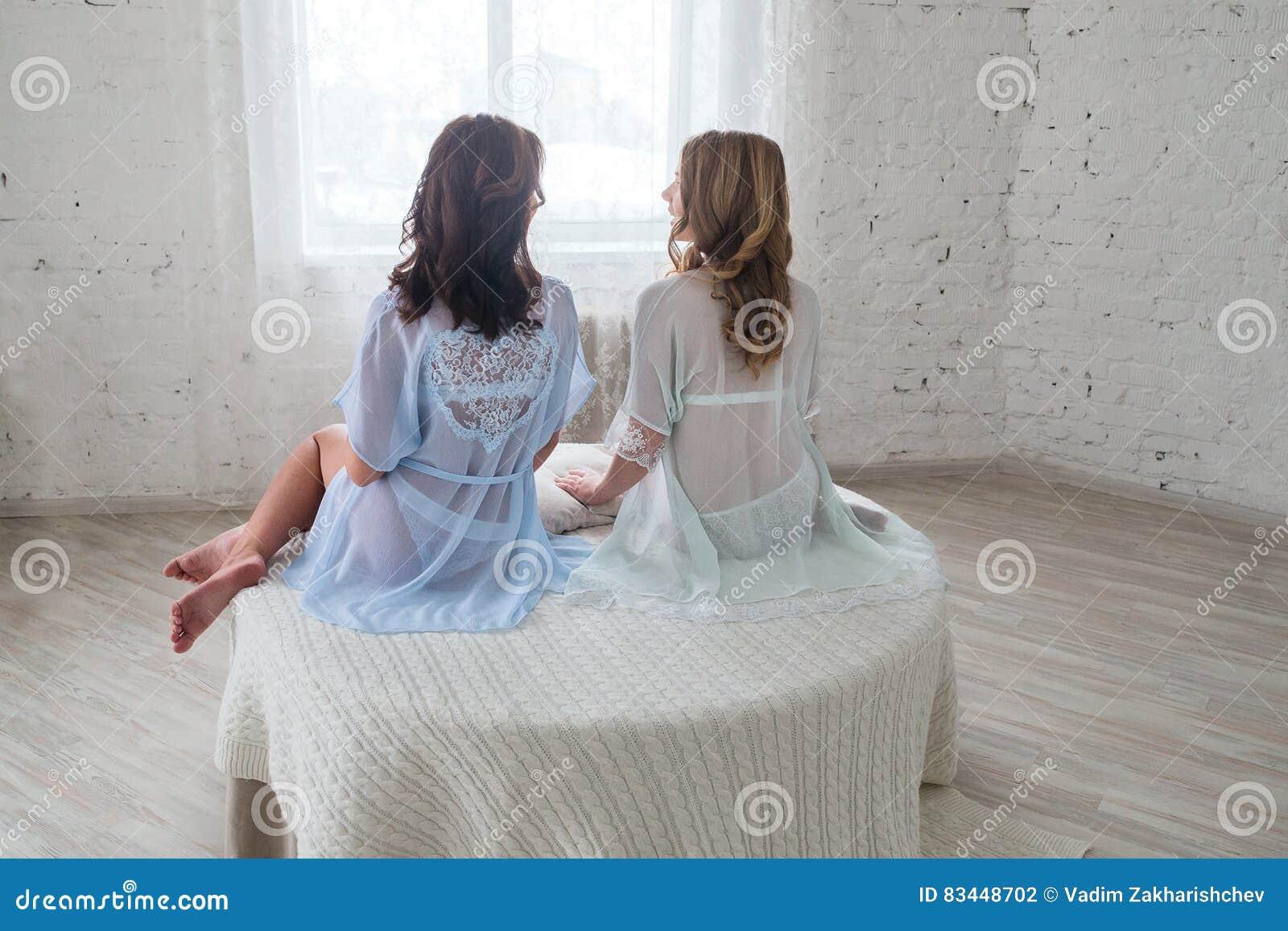 Sexy Lesbians Double Dildo