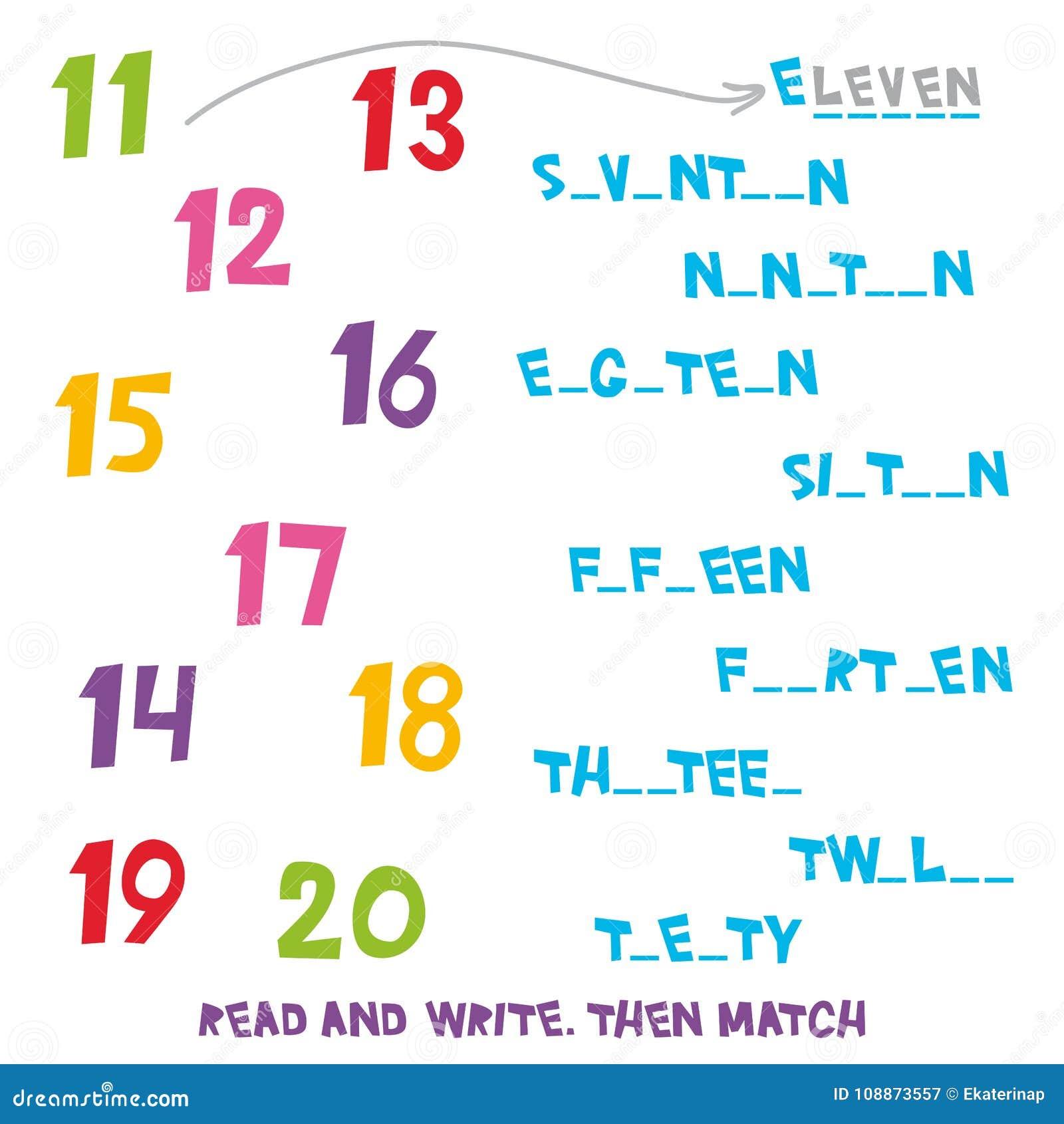 Lesen Sie Und Schreiben Sie Bringen Sie Dann Die Nr. 11 Bis 20 ...