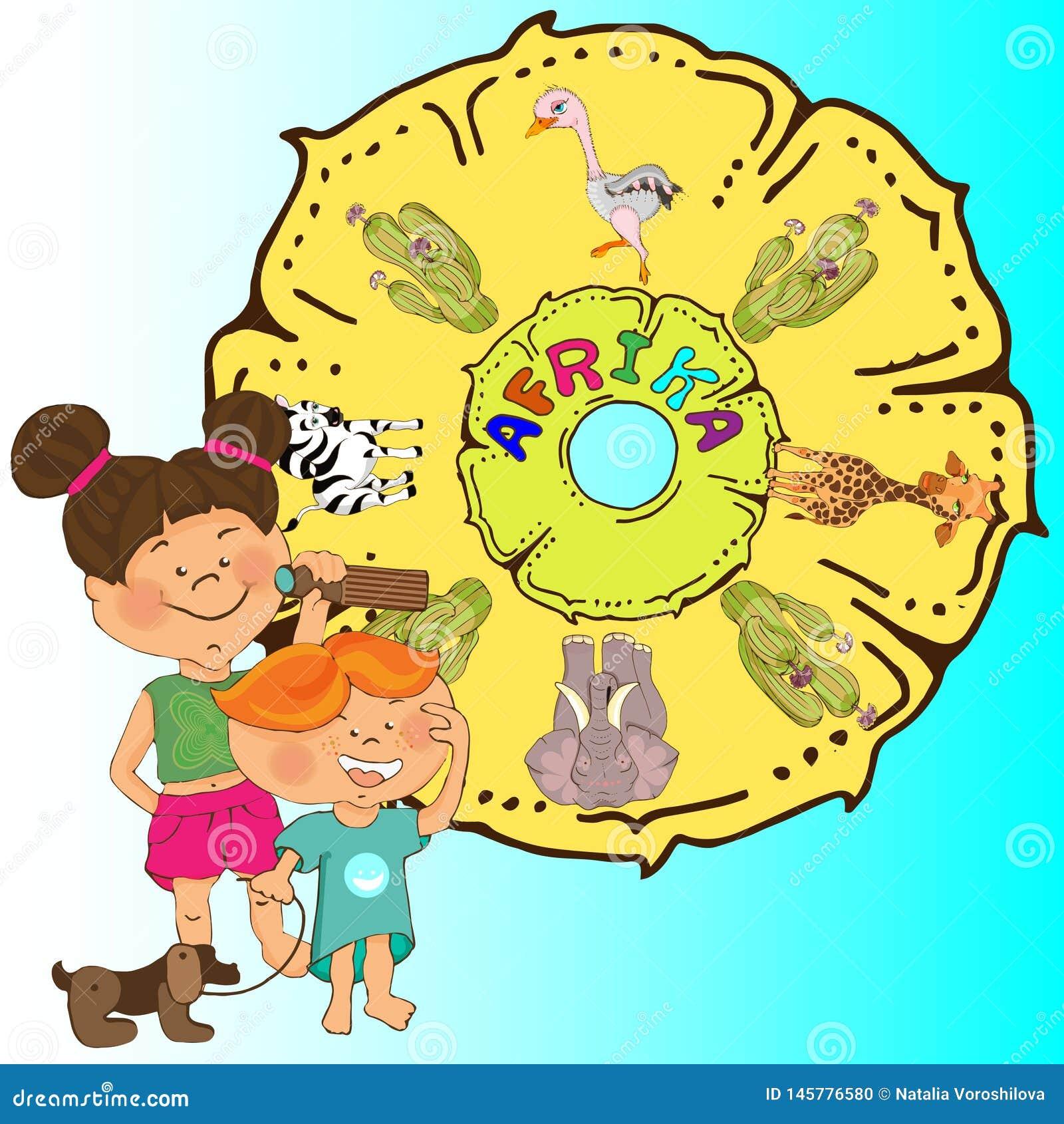 Leser f?r Kindergarten, Bilder basiert auf den M?rchen ?ber Barmalee