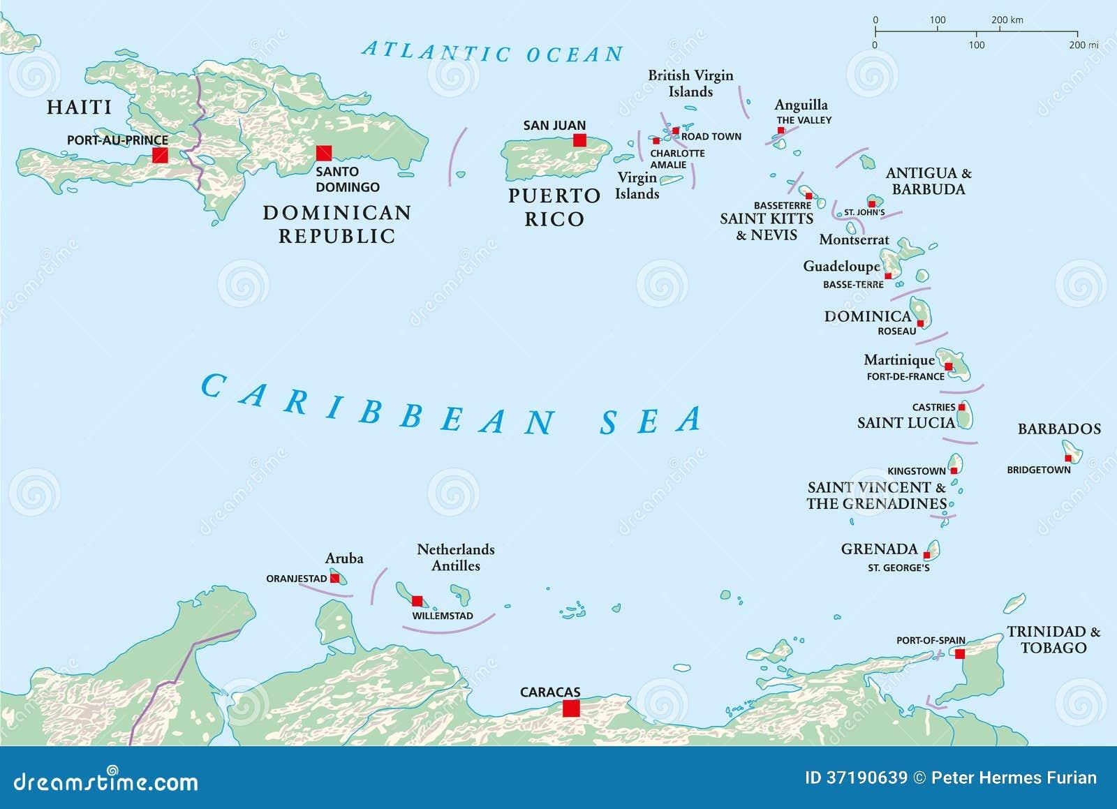 Lesser Antilles Haiti Dominikanska Republiken Vektor