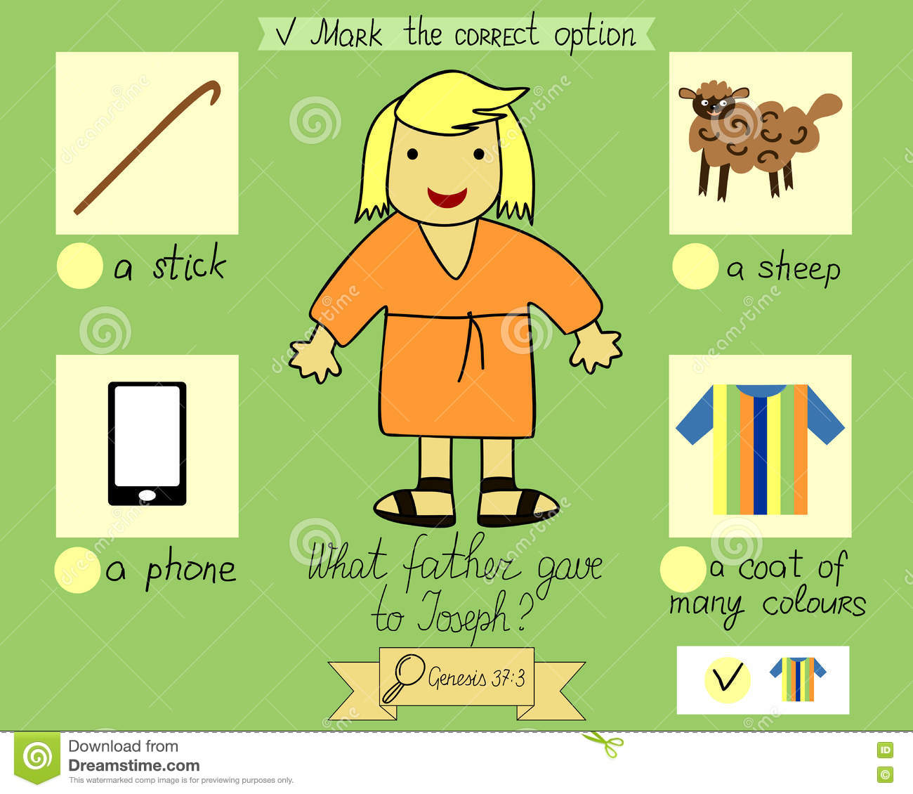 Lesson And Job For Kids About Joseph And His Colorful Clothes ...