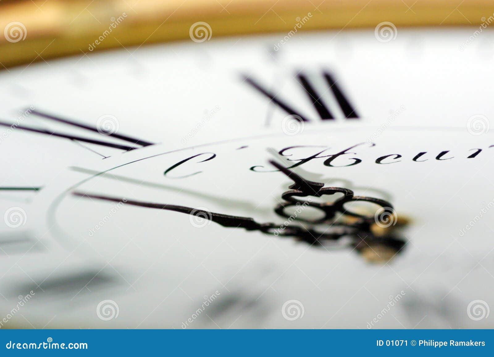 Let op de tijd