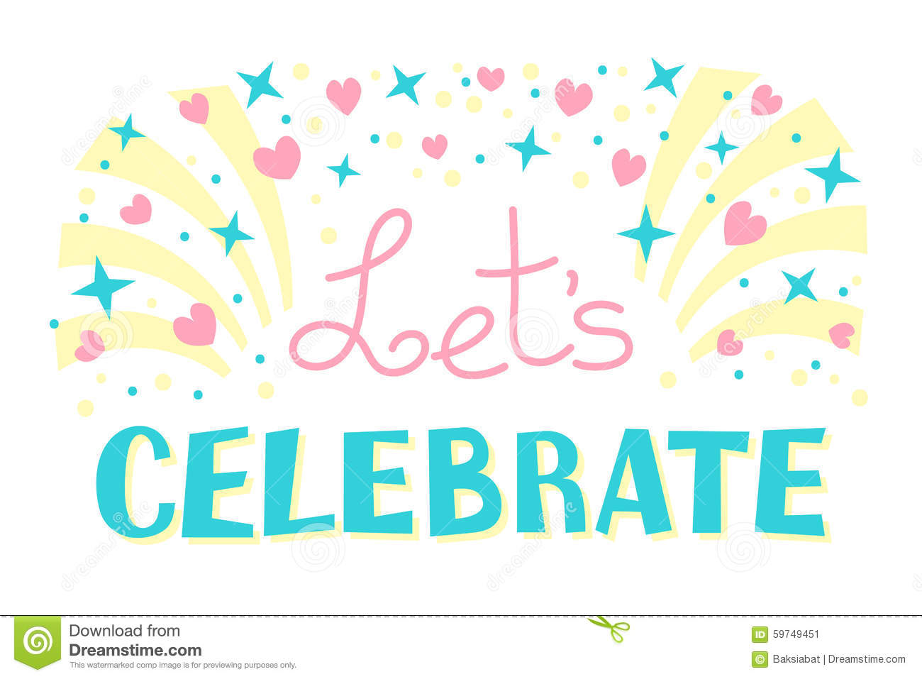 let s celebration invitation background party time stock vector