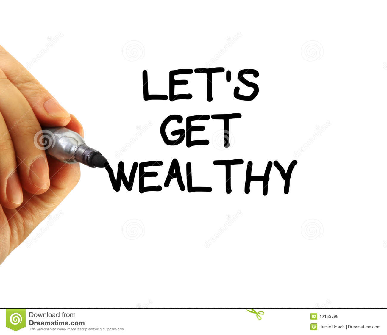 Premise Indicator Words: Let's Get Wealthy Royalty Free Stock Images