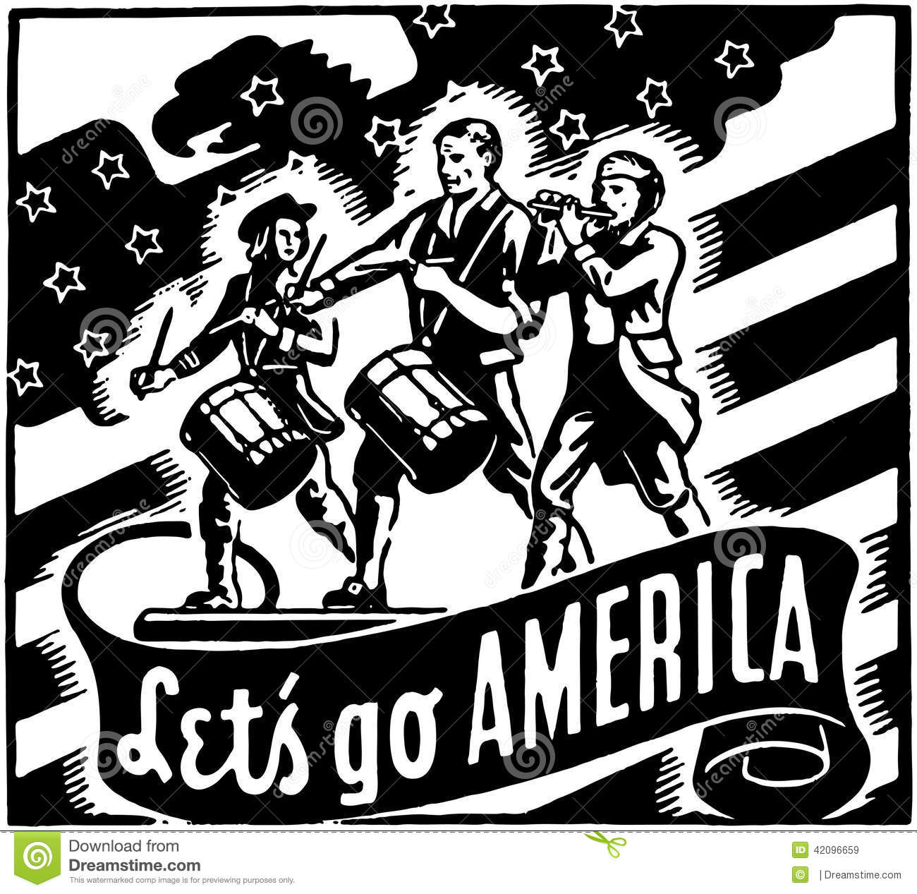Let S Go To The Movies: Let's Go America Stock Vector