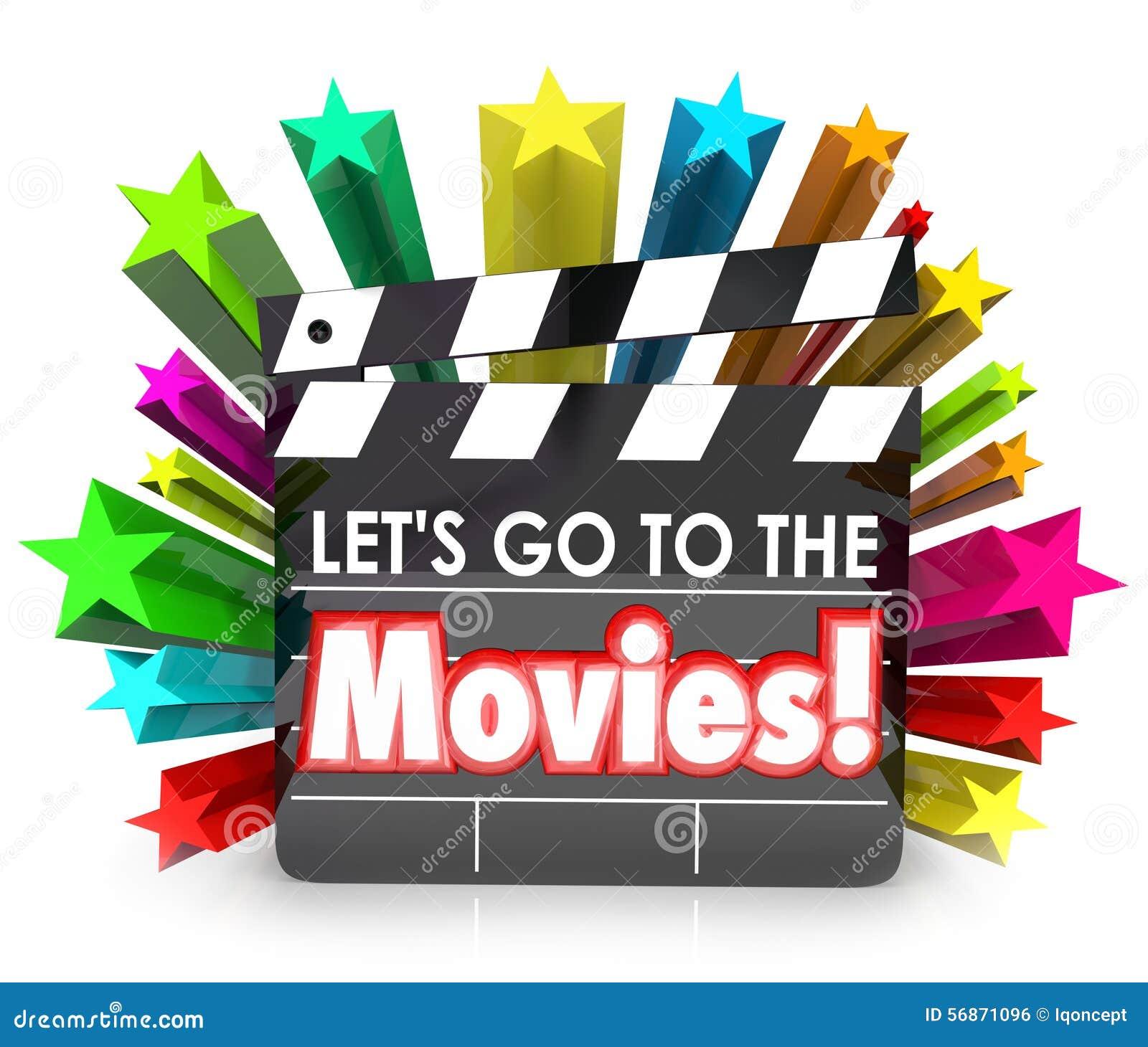 Let S Go To The Movies: Let's Go To The Movies Film Clapper Board Watch Fun