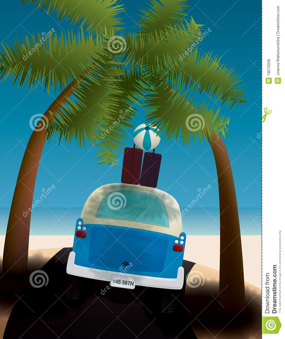 Go Travel Vacations: Let's Go On Vacation Stock Illustration. Image Of Weather
