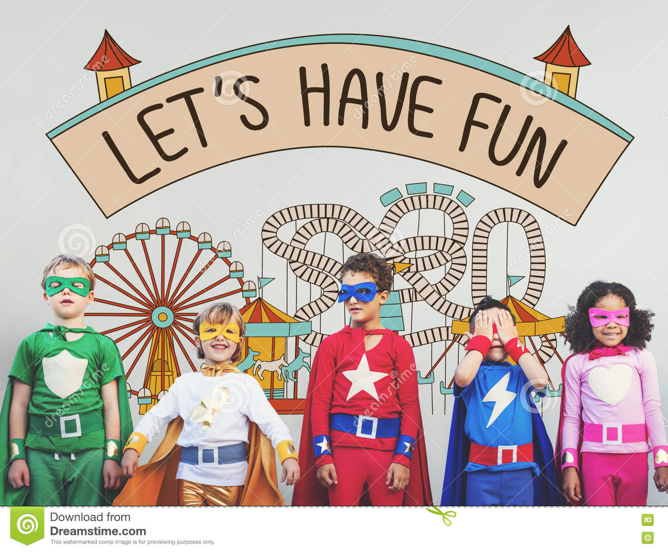 75a07ff1e Let's Have Fun Children Kids Graphic Concept Stock Image - Image of ...