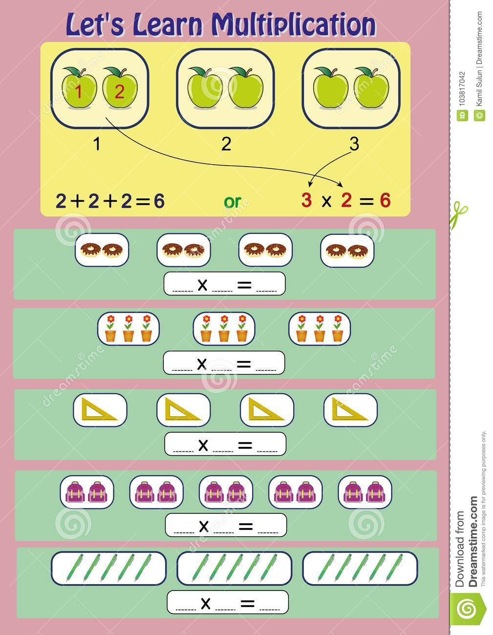 Let`s Learn Multiplication, Mathematical Activity, Multiplication ...
