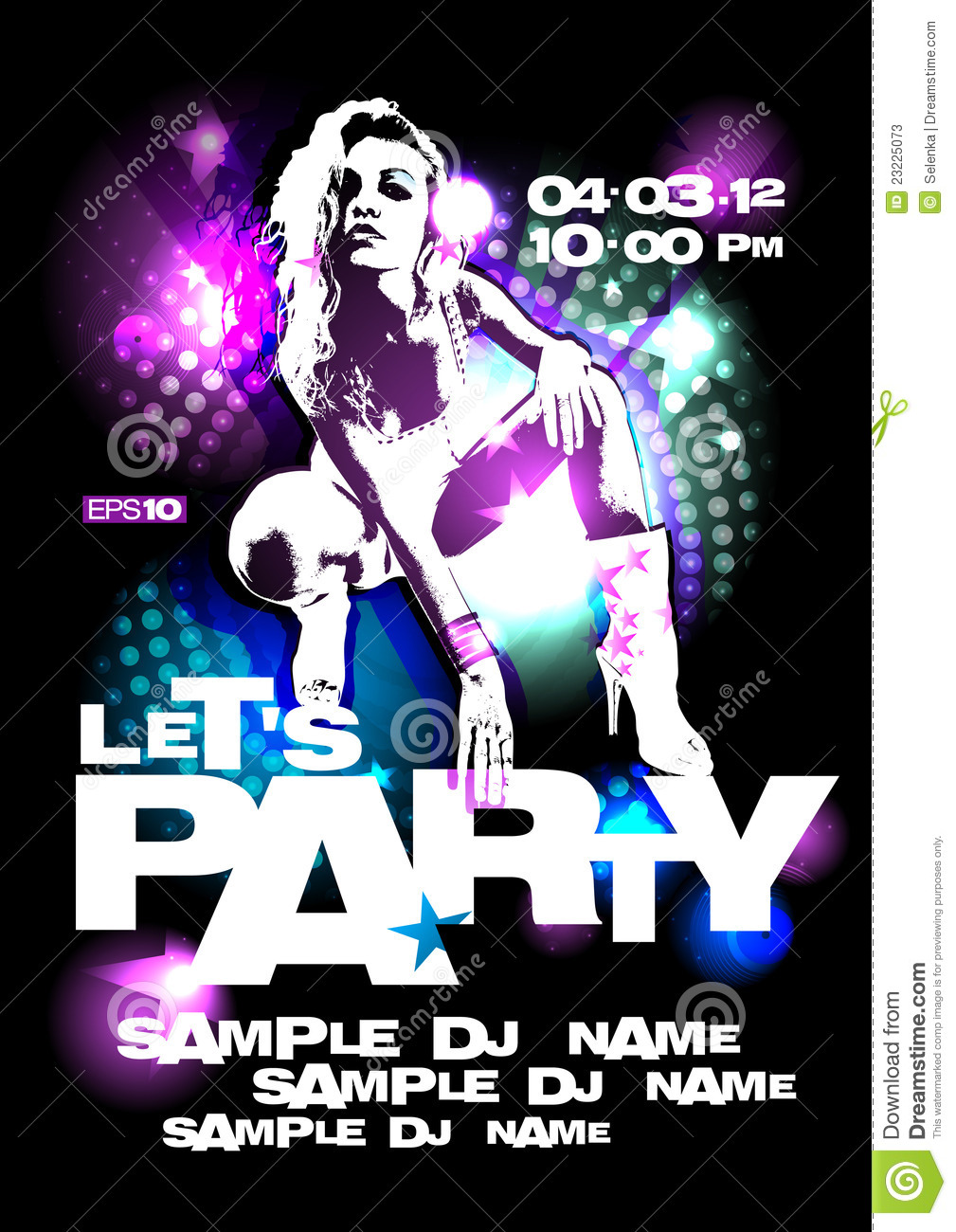 Let`s Party Design Template. Stock Photos - Image: 23225073