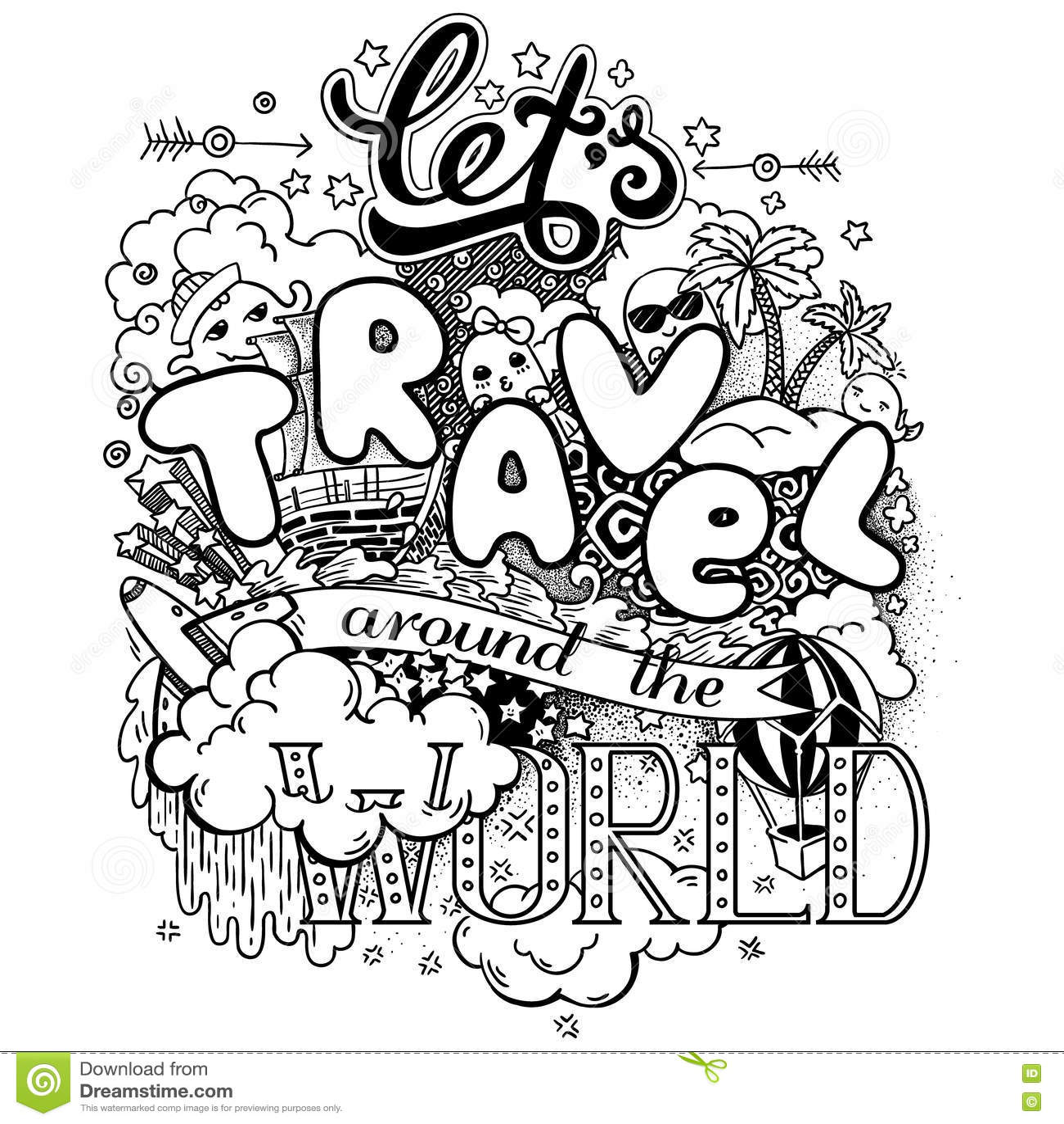 let u0026 39 s travel around the world stock vector