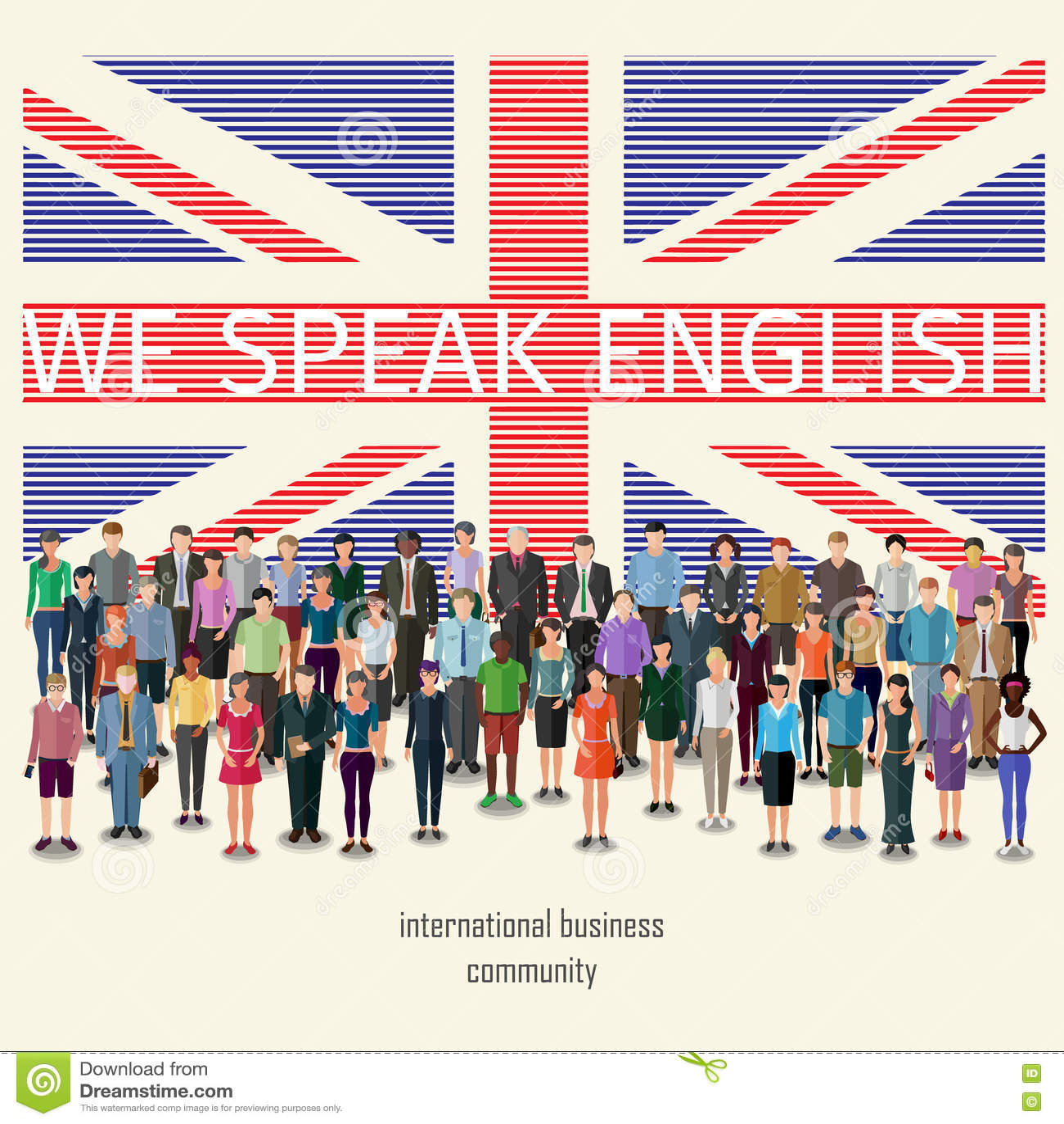 Let Speak Foreign Languages Stock Vector - Illustration of