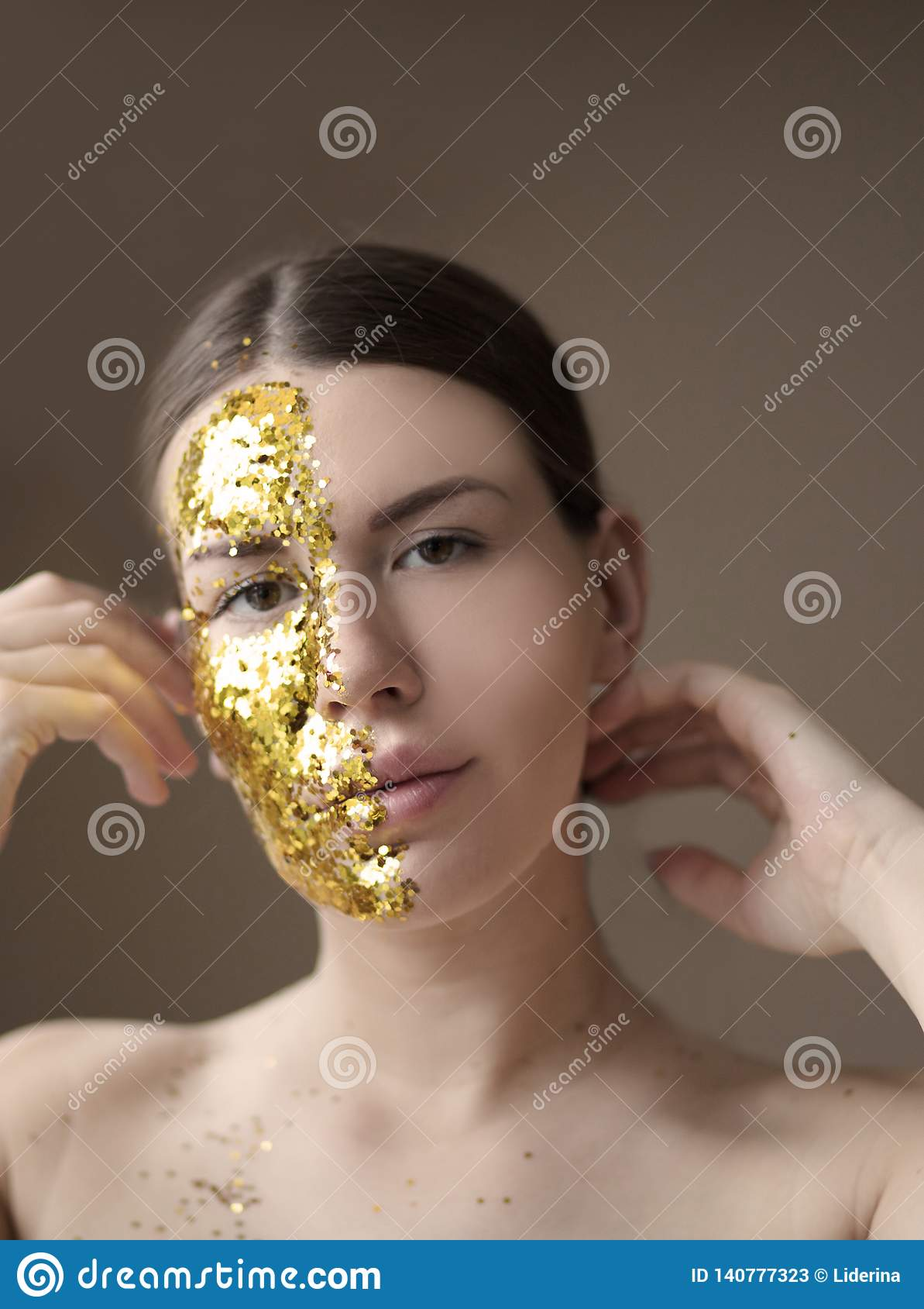 Let Them Admire Your Golden Beauty Stock Image - Image of portrait