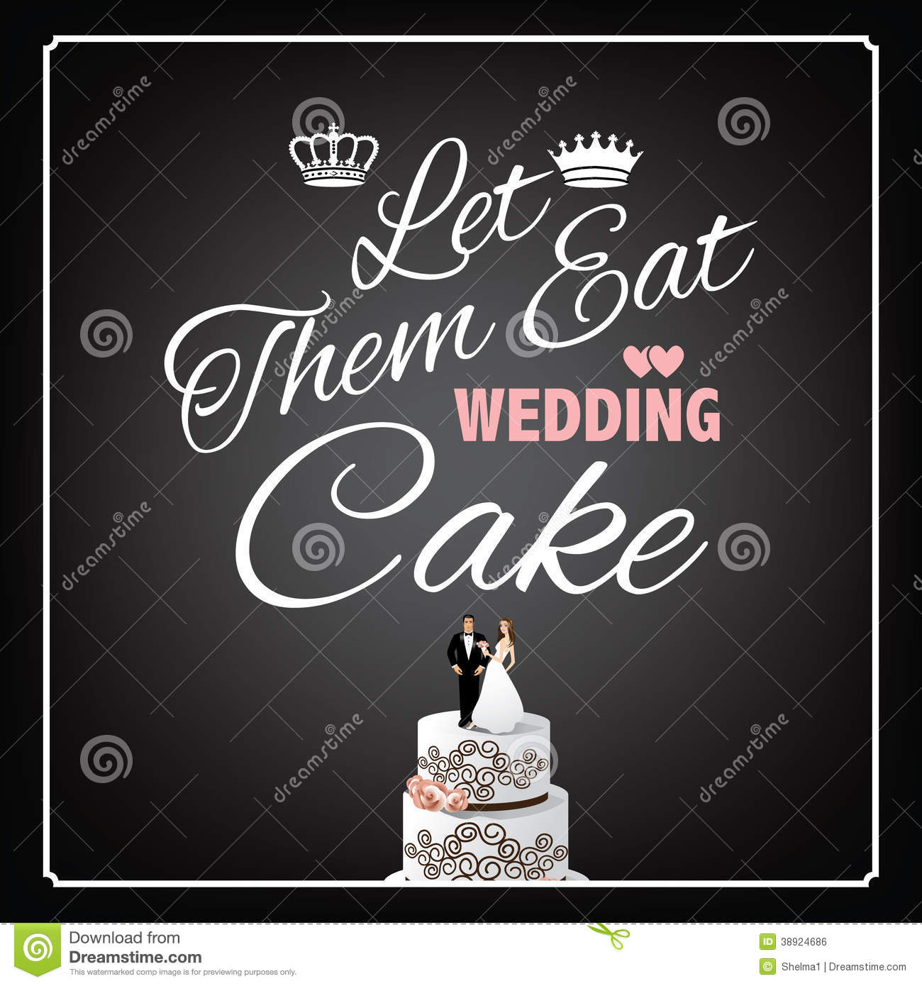 dream interpretation eating wedding cake let them eat wedding cake design stock vector image 13730
