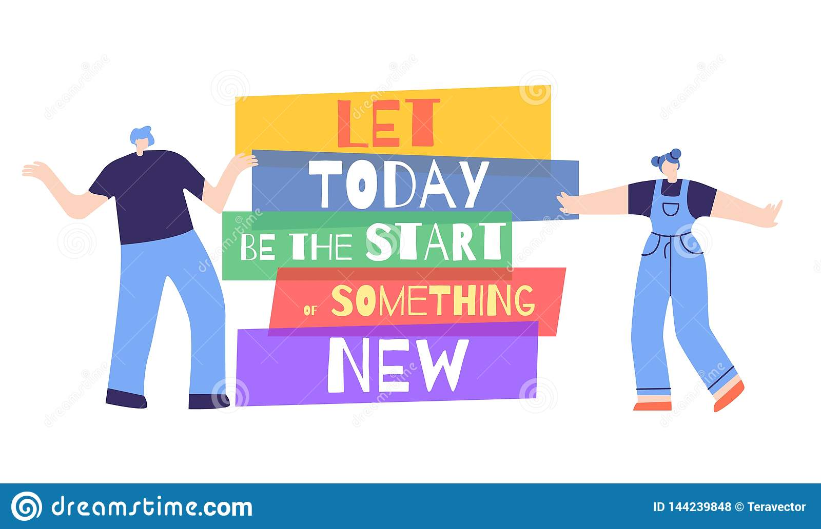 Woman Motivation Start Today Something New Poster