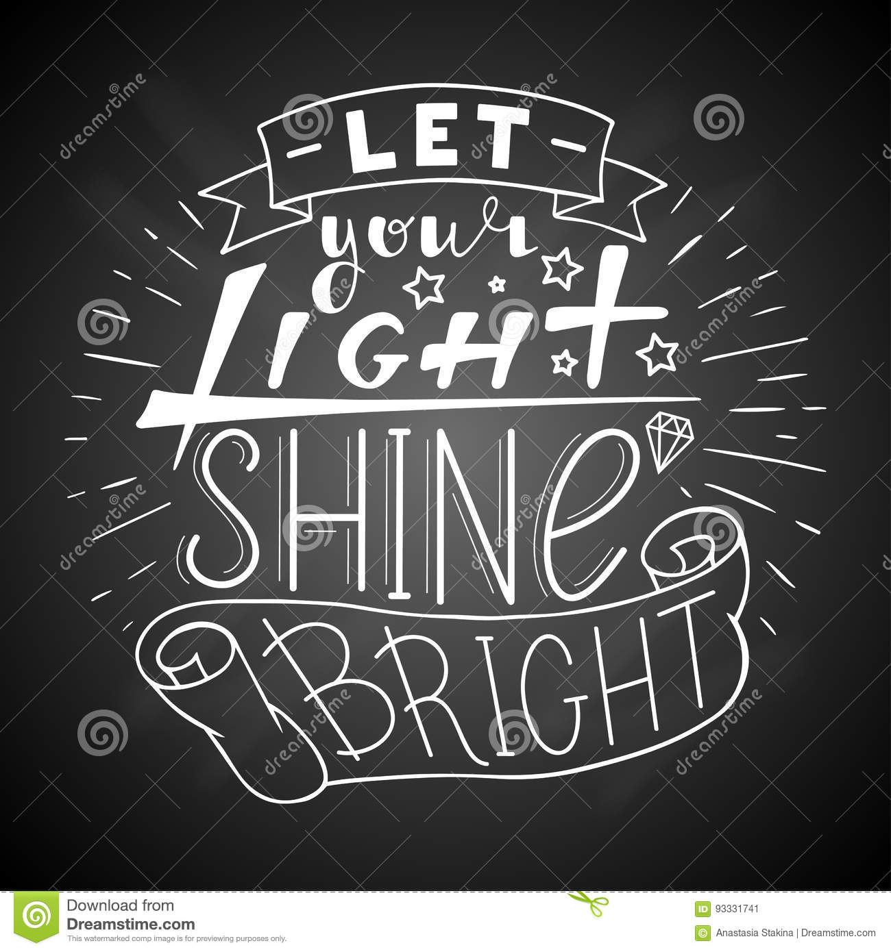 Let Your Light Shine Bright Stock Vector Illustration Of