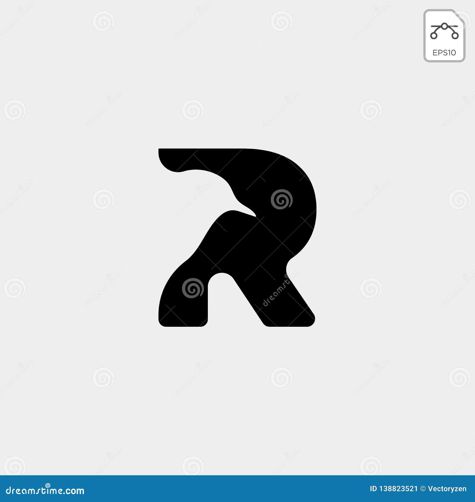 leter R bird monogram logo template vector icon