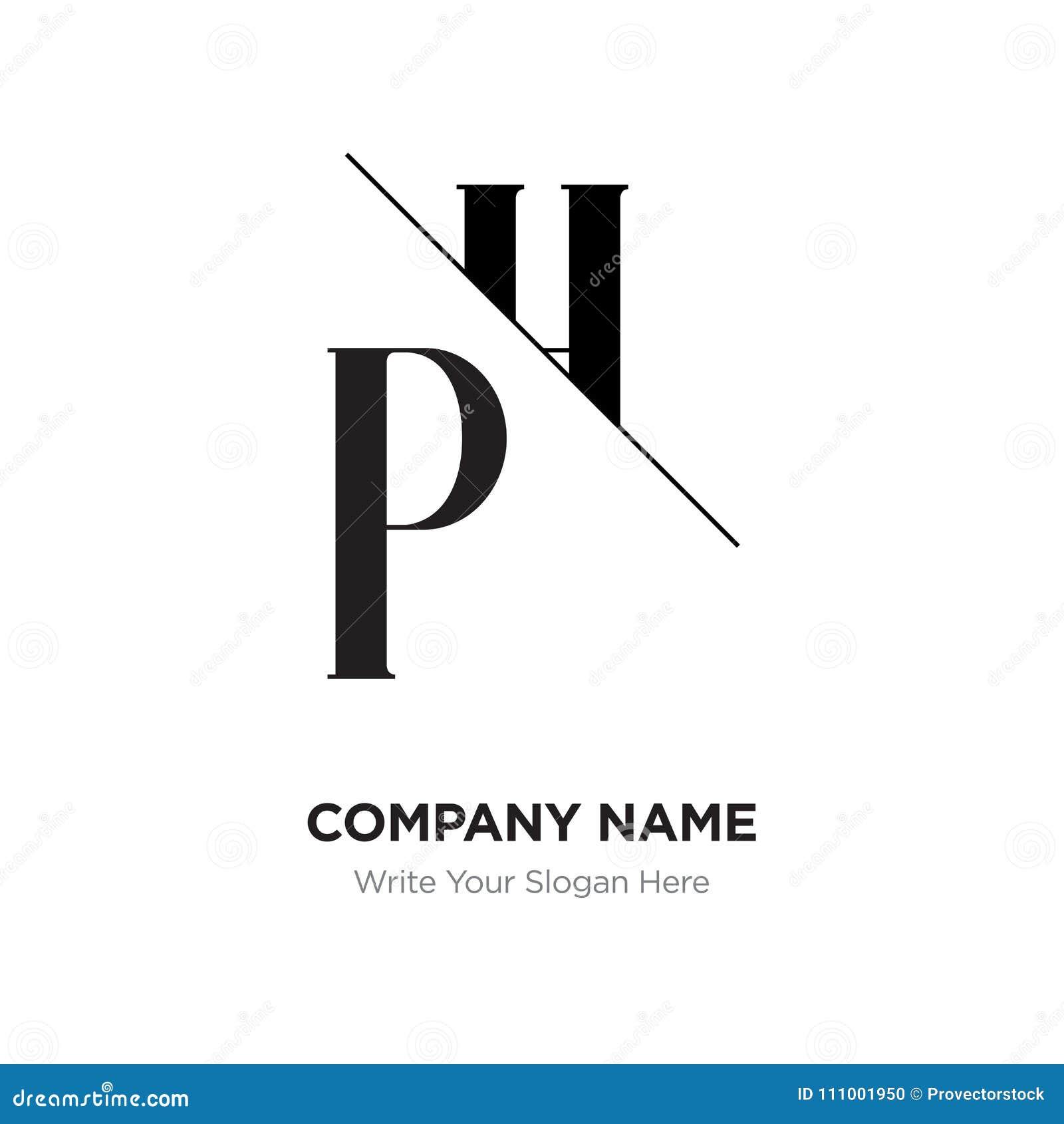 Letra Abstracta PH, Plantilla Del Diseño Del Logotipo De HP ...