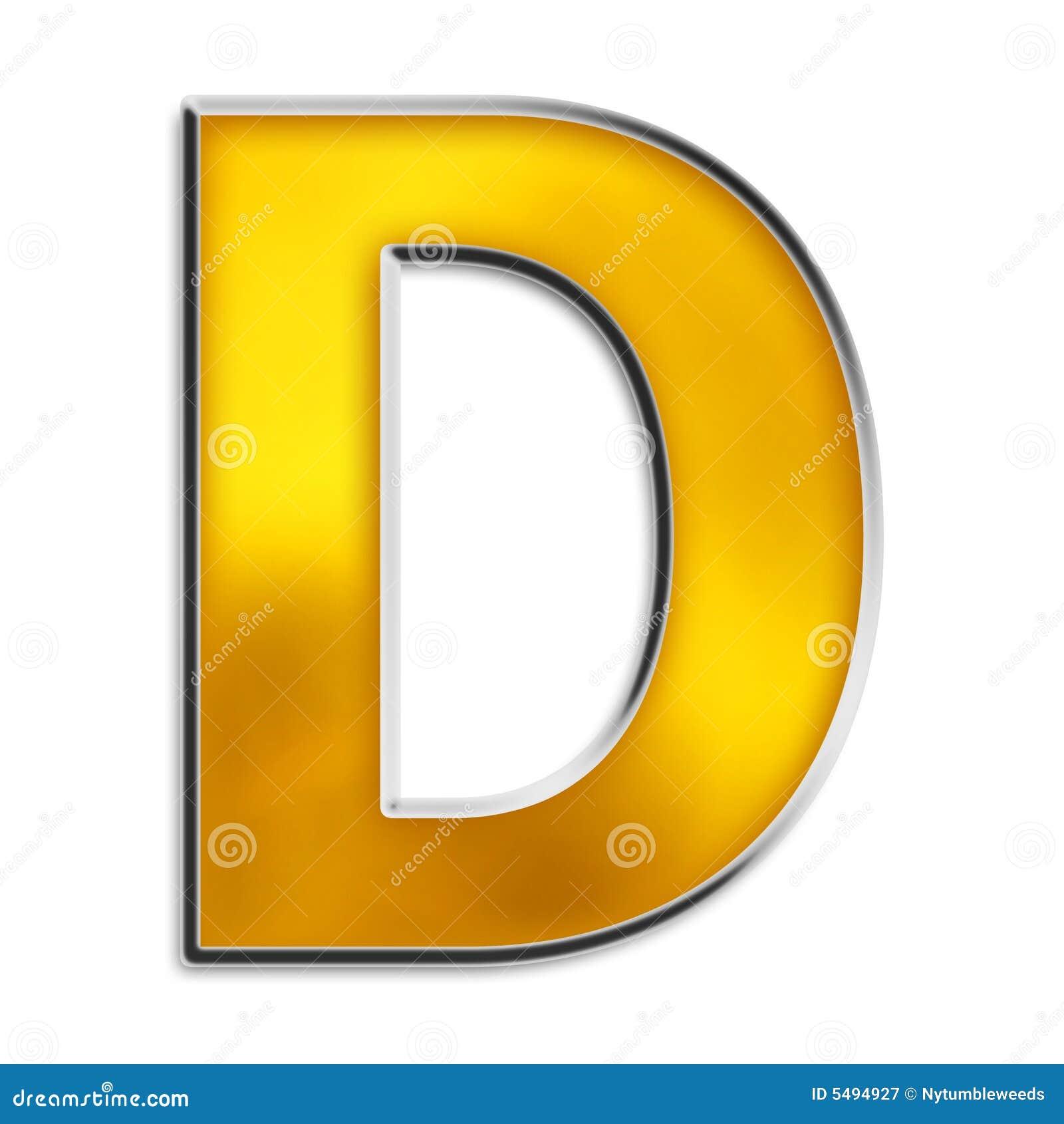 d bold letter