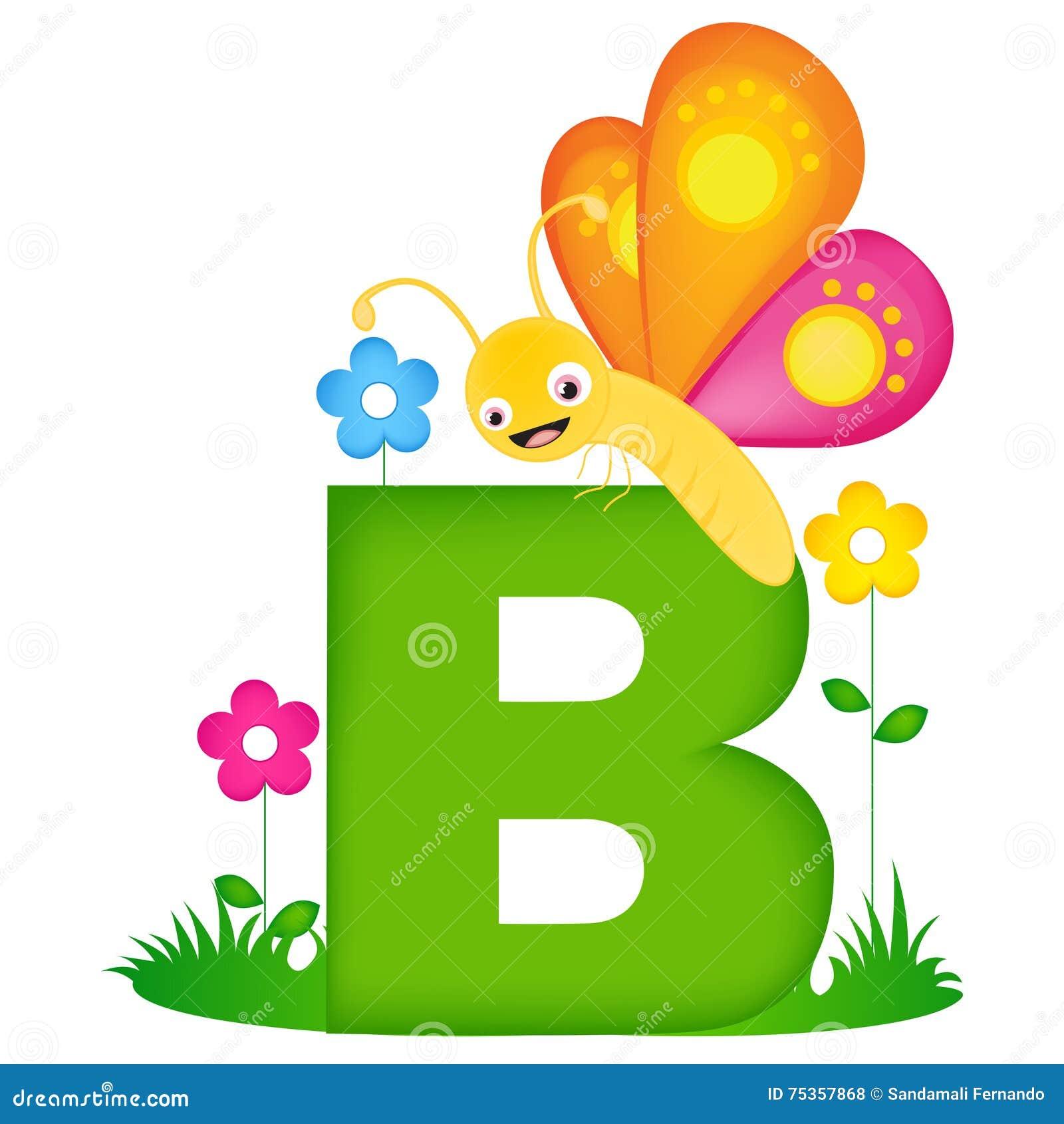 Letra animal B do alfabeto