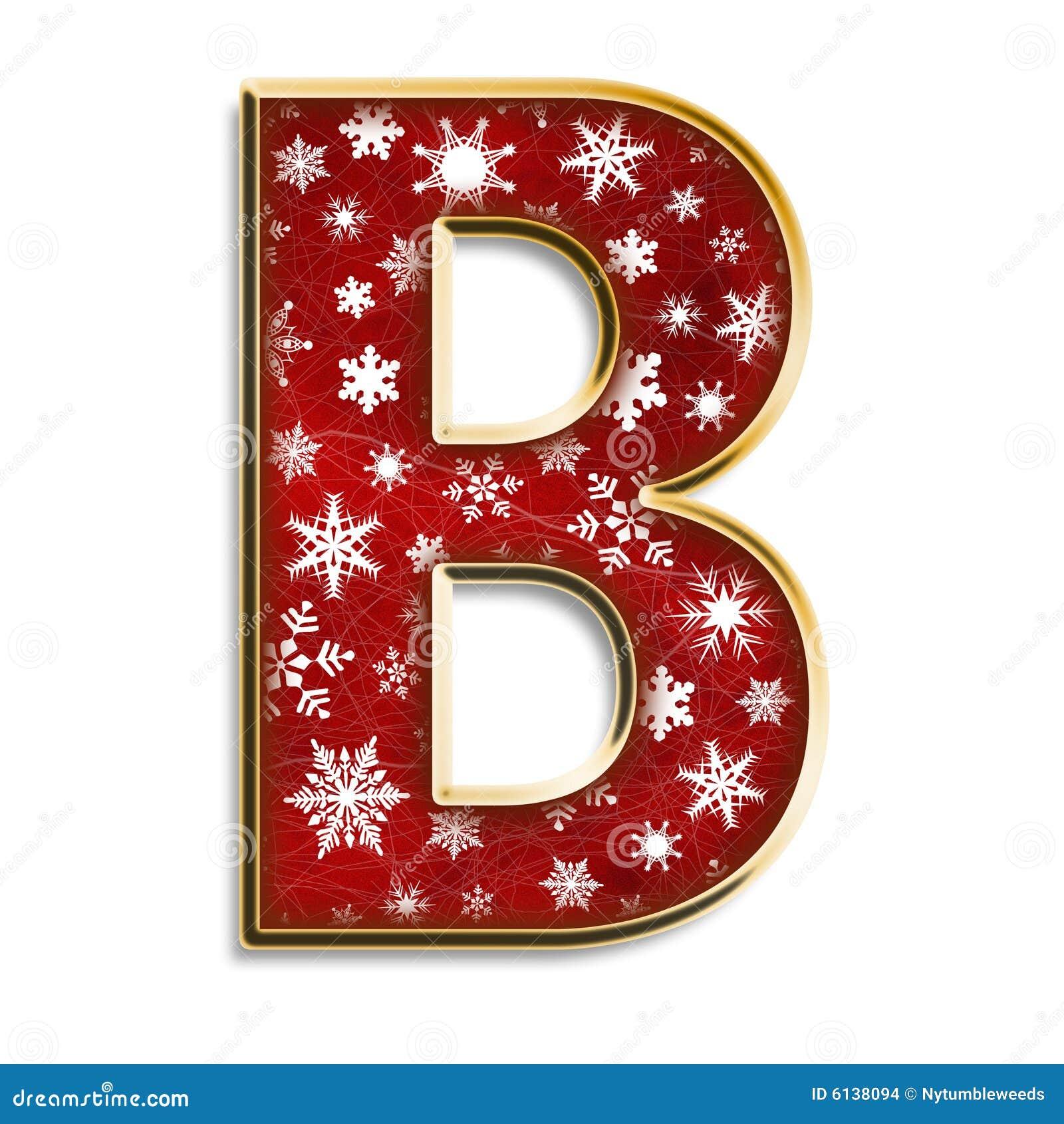 Letra B Do Natal No Vermelho Imagens De Stock Imagem