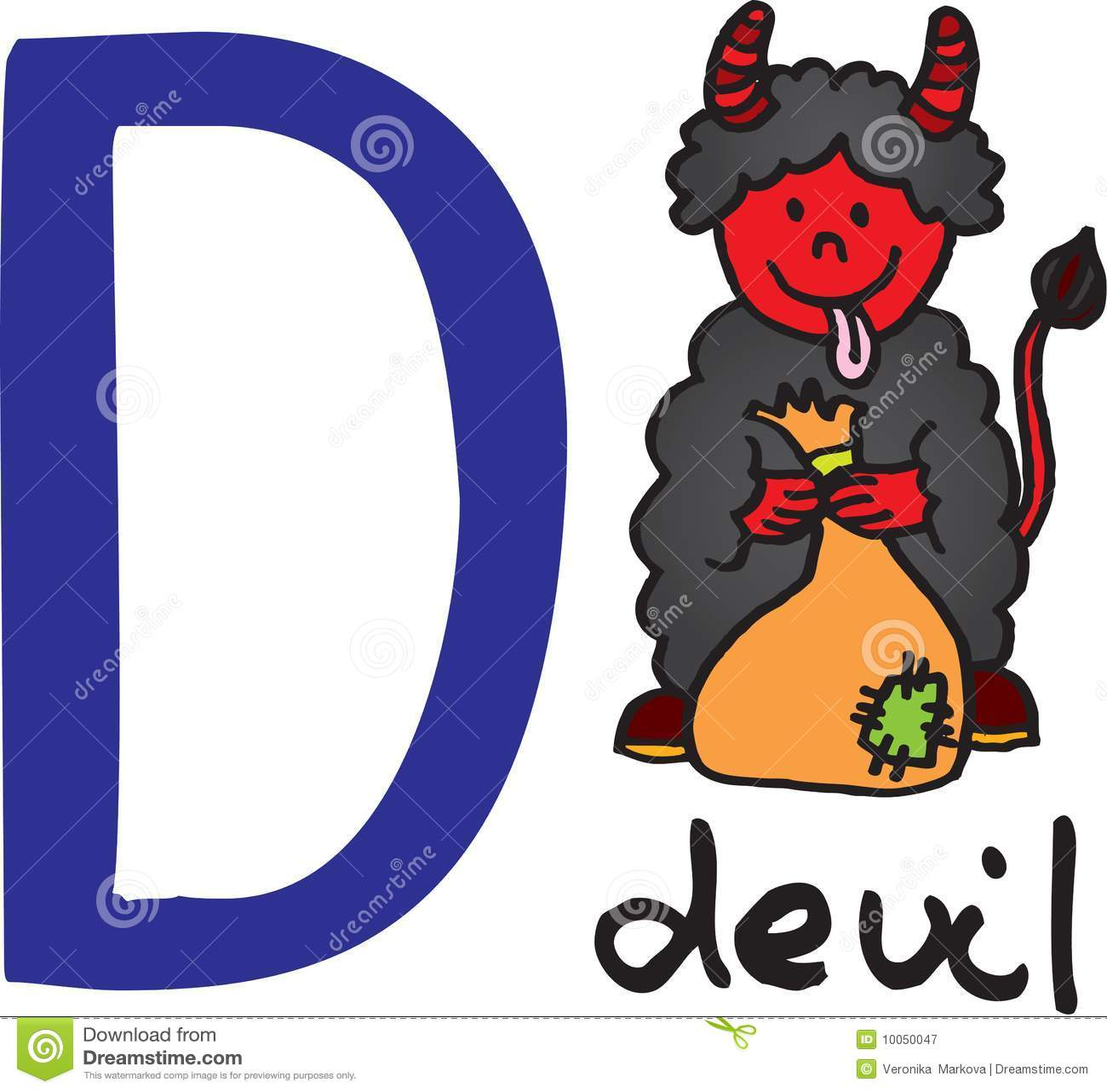 Letra D - diabo