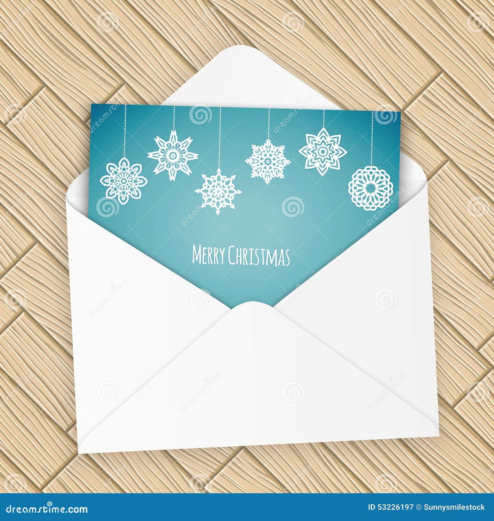 Letra de la Feliz Navidad con los copos de nieve