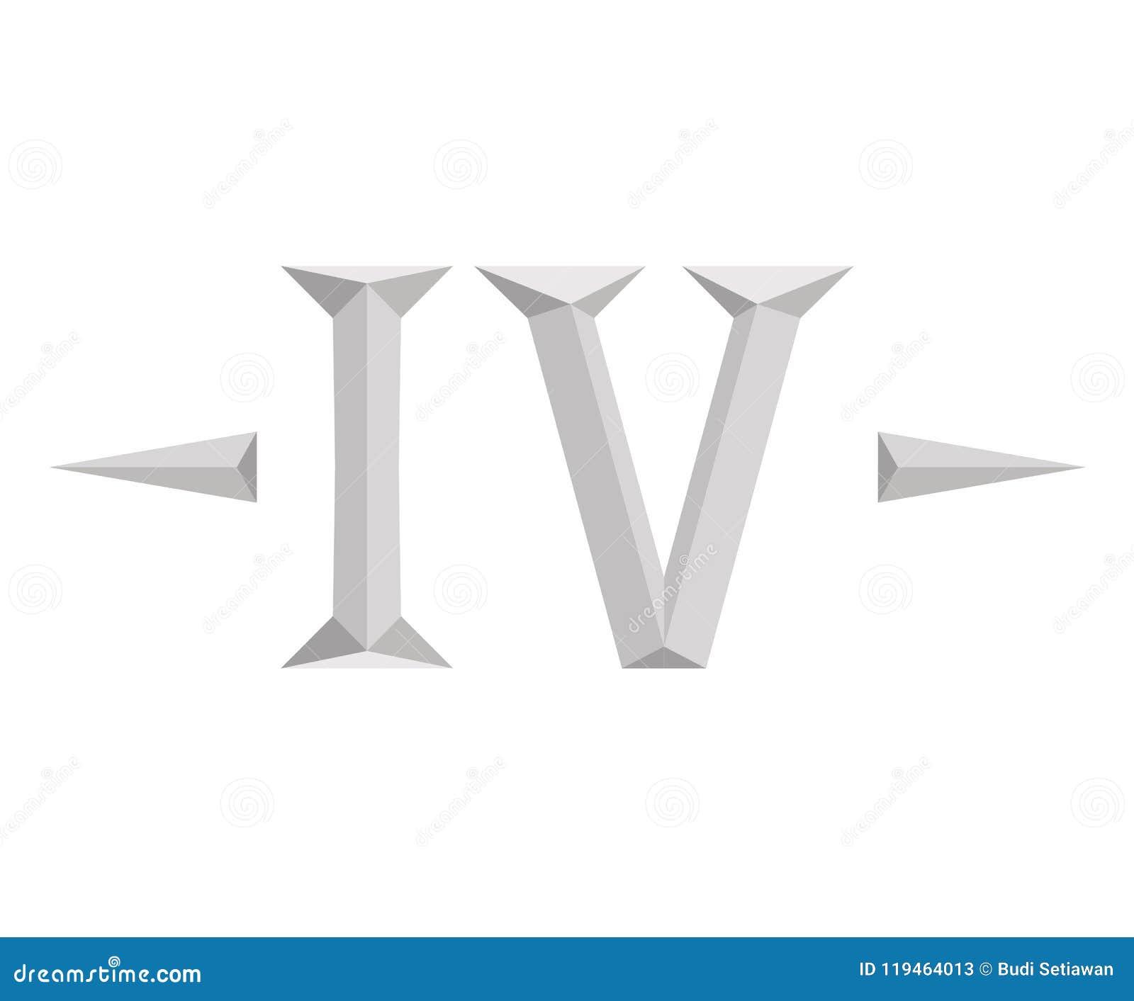 Letra 7 De 4 Roma Ilustración Del Vector Ilustración De Alfabeto