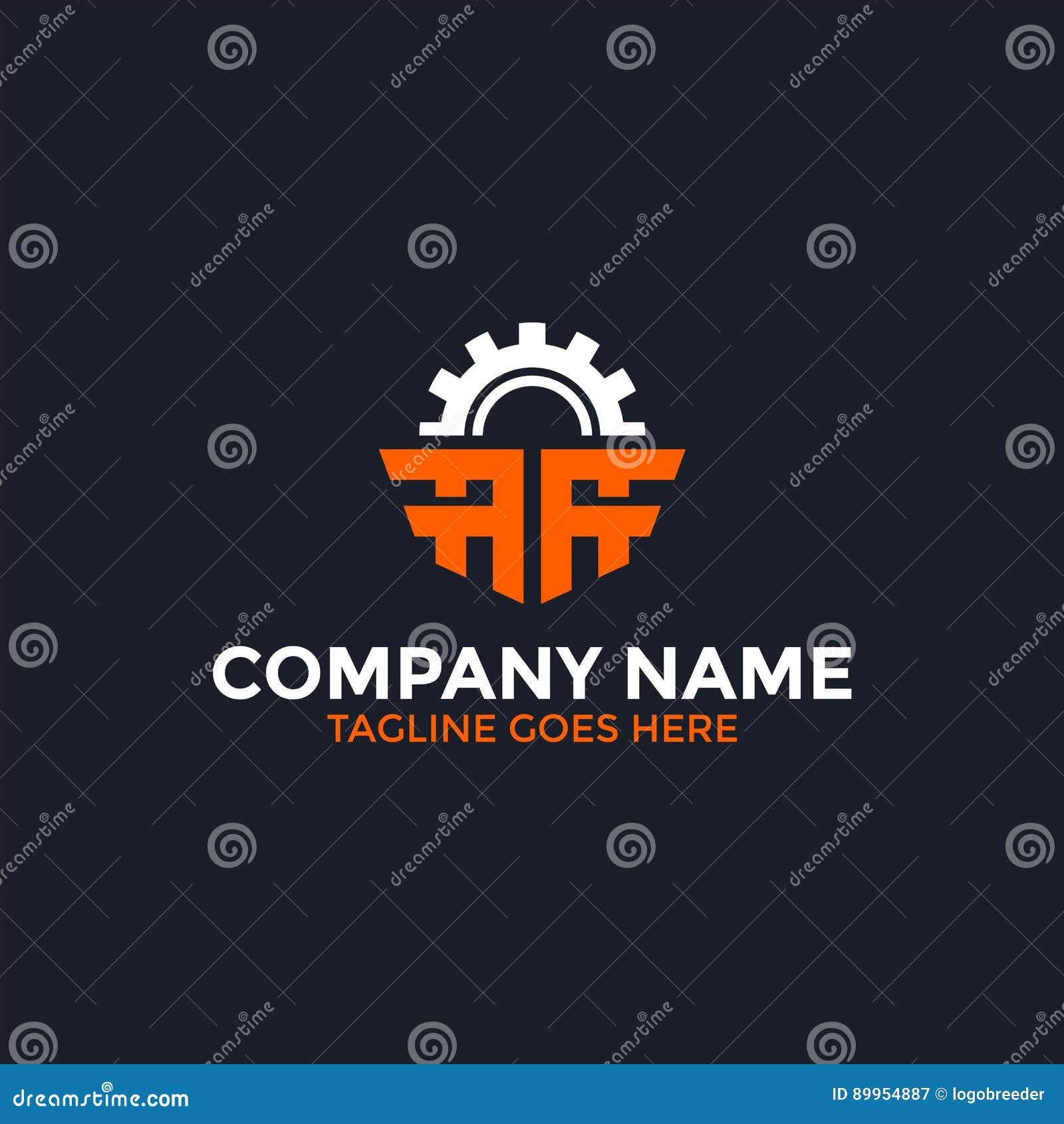 Letra del engranaje un logotipo