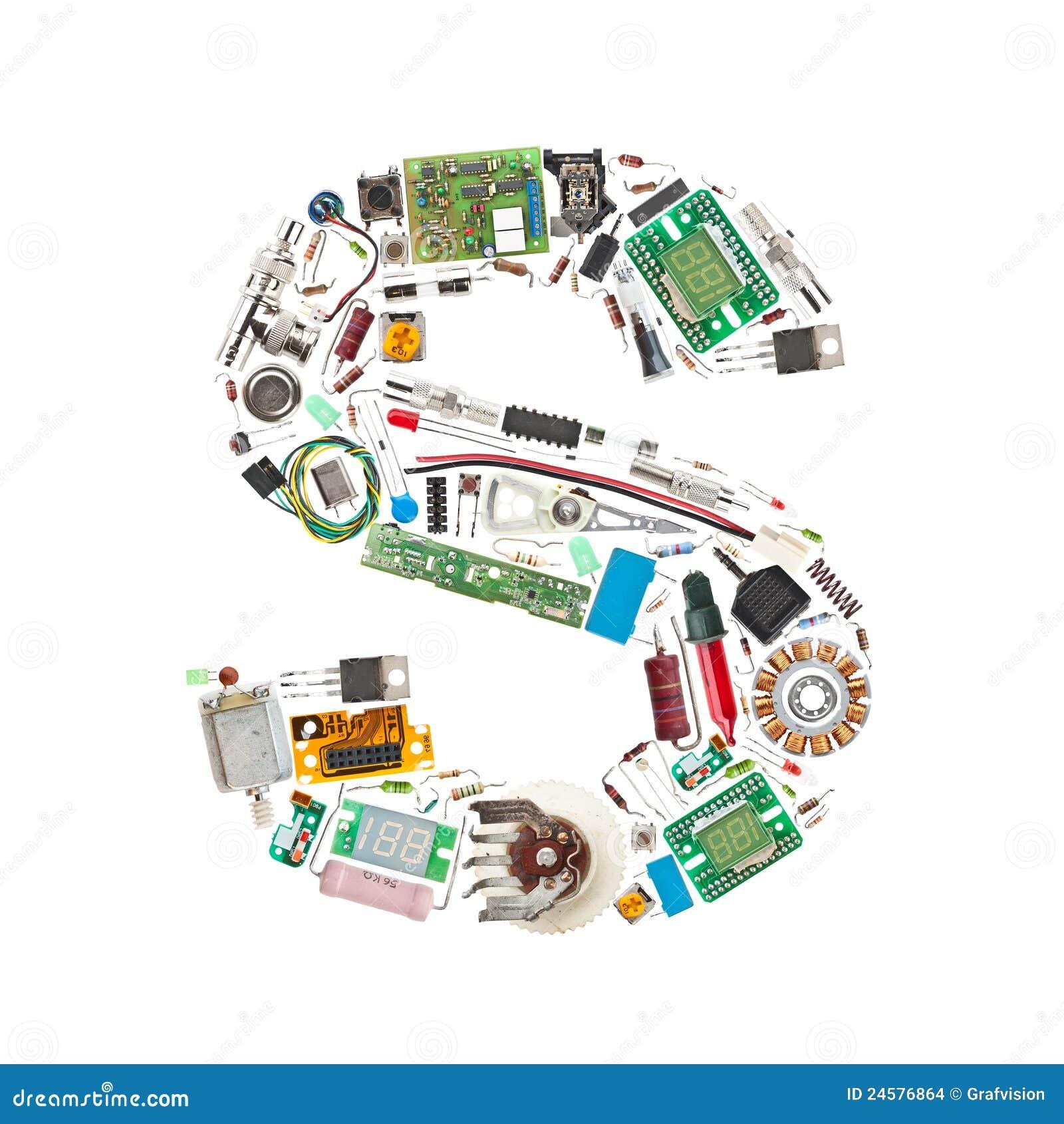 Letra dos componentes eletrônicos